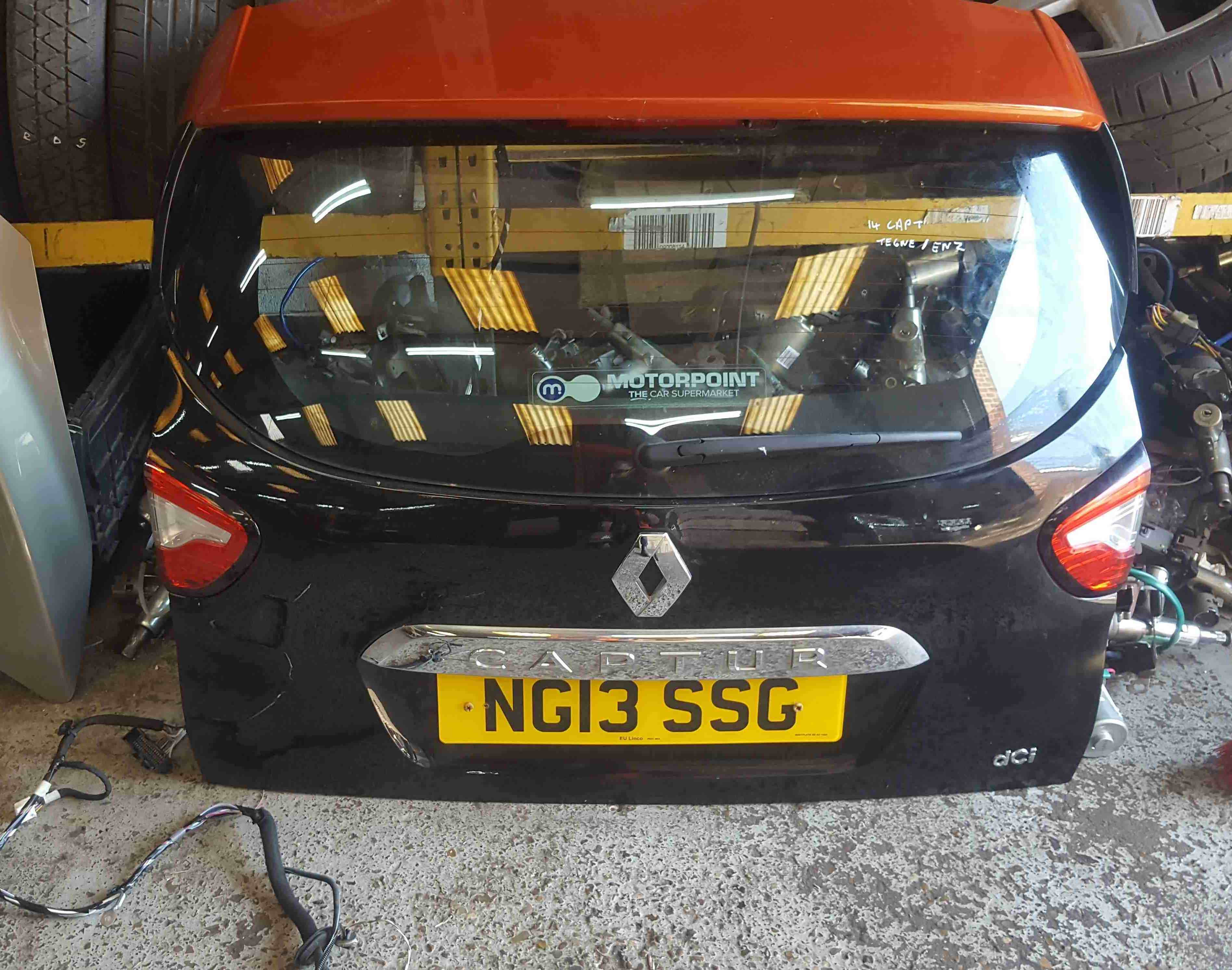 Renault Captur 20132019 Rear Tailgate Boot Black BIXNU ENZ Orange
