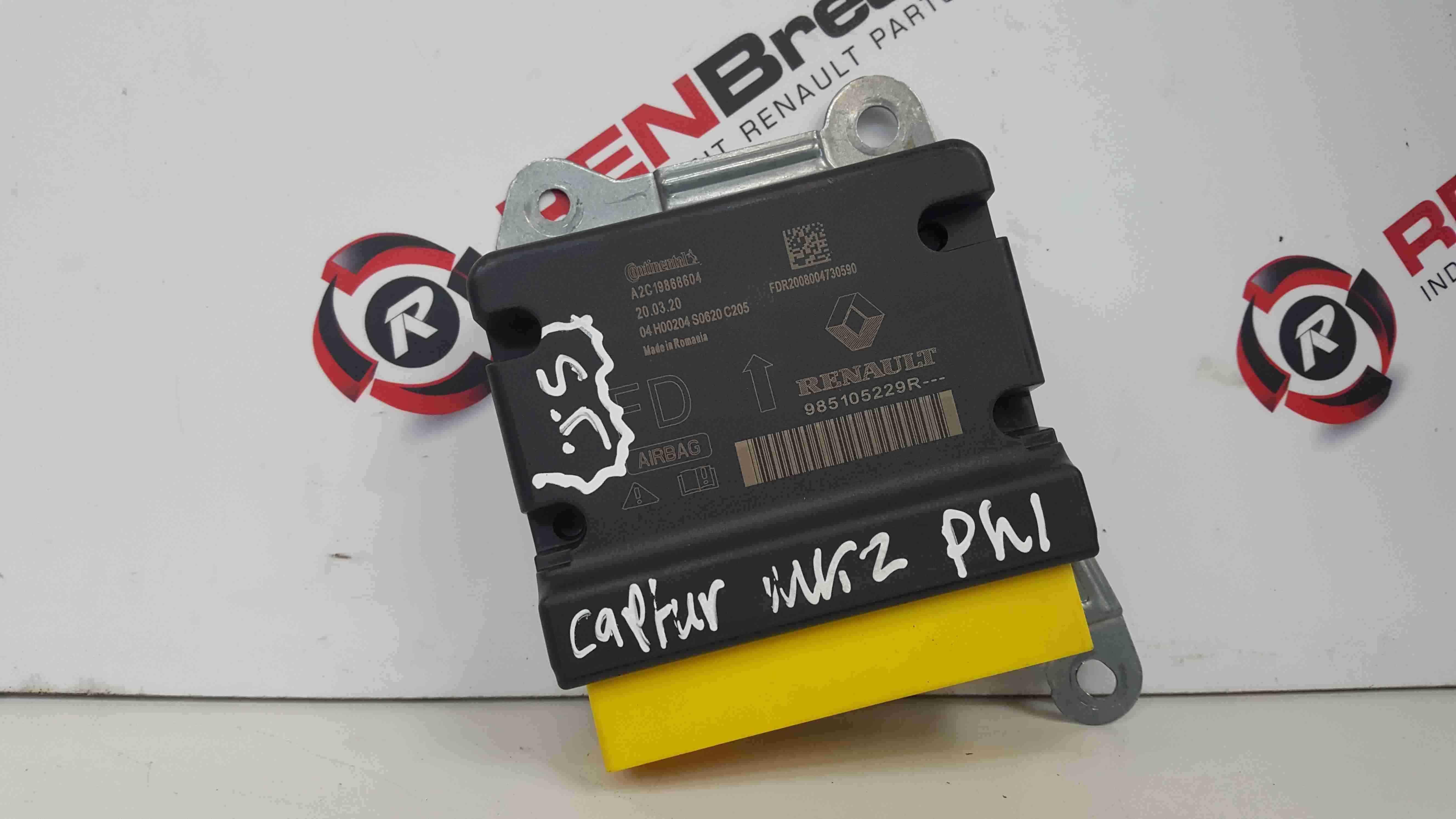Renault Captur 2019-2021 Airbag Module Computer Spares 985105229R