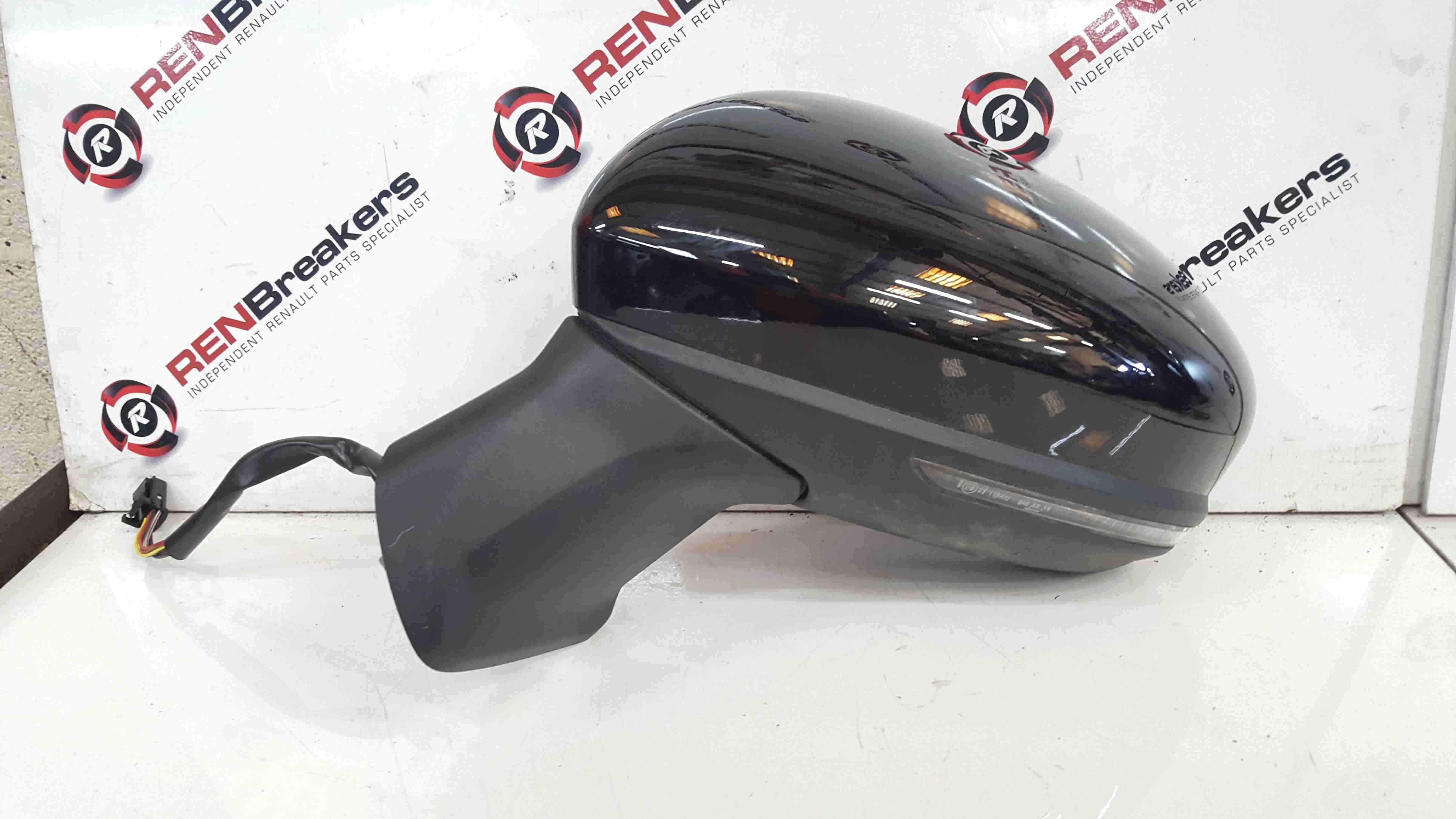 Renault Captur 2019-2021 Passenger NS Wing Mirror Black Folding