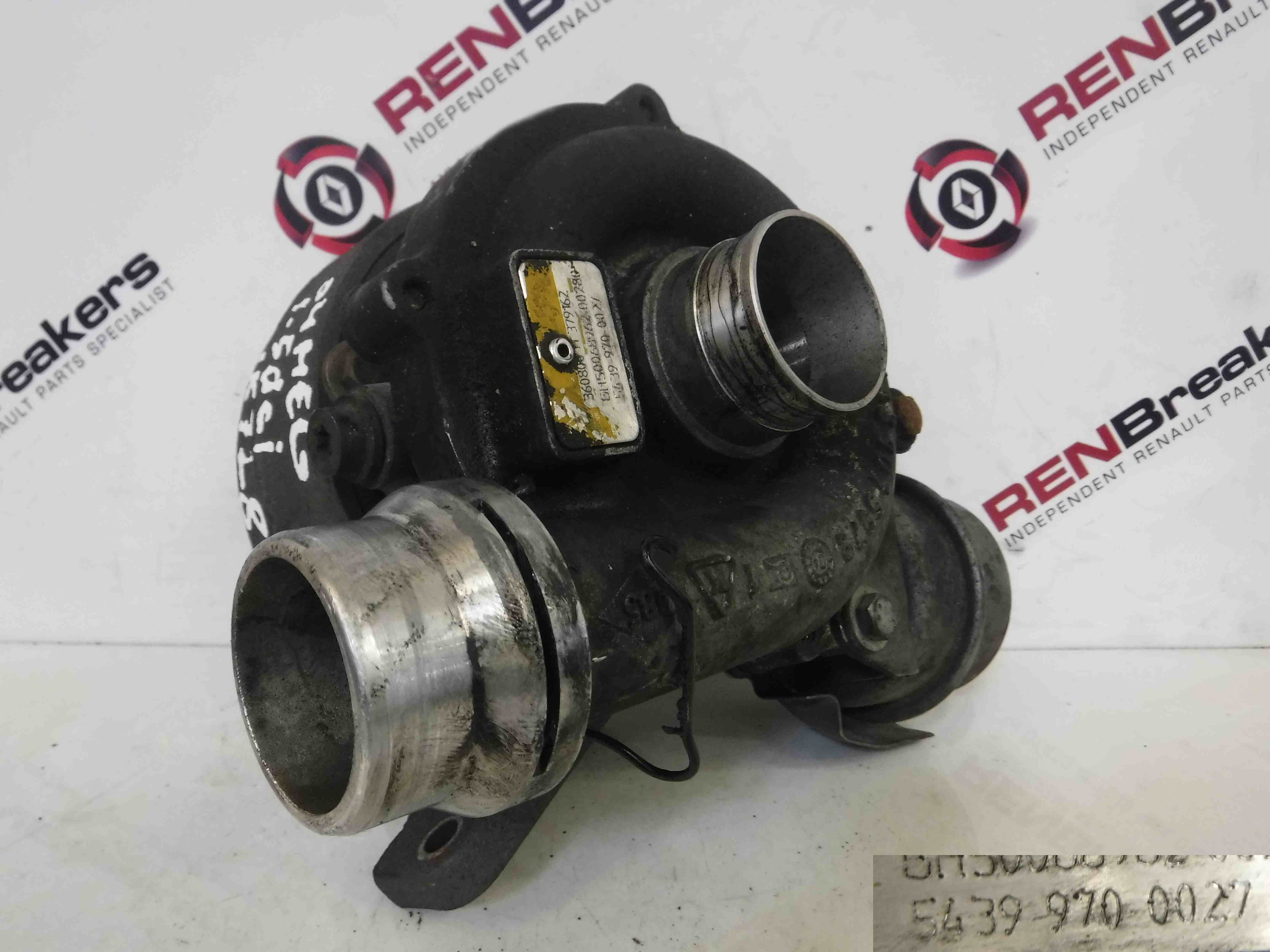 renault clio 2001 2006 1 5 dci turbo charger unit k9k 712 54399700027 store renault breakers. Black Bedroom Furniture Sets. Home Design Ideas