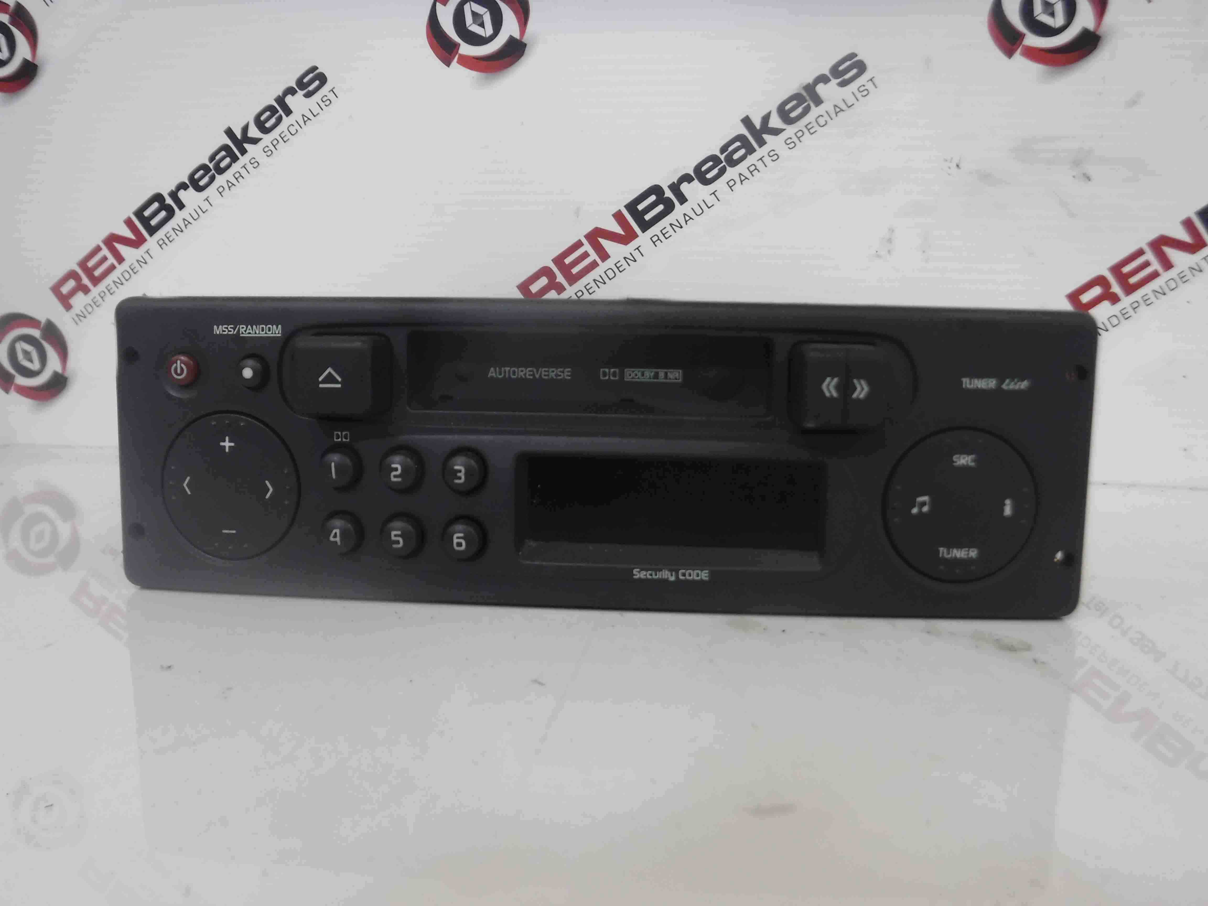 renault clio mk2 2001 2006 radio tape casette player code 8200113800 store renault. Black Bedroom Furniture Sets. Home Design Ideas