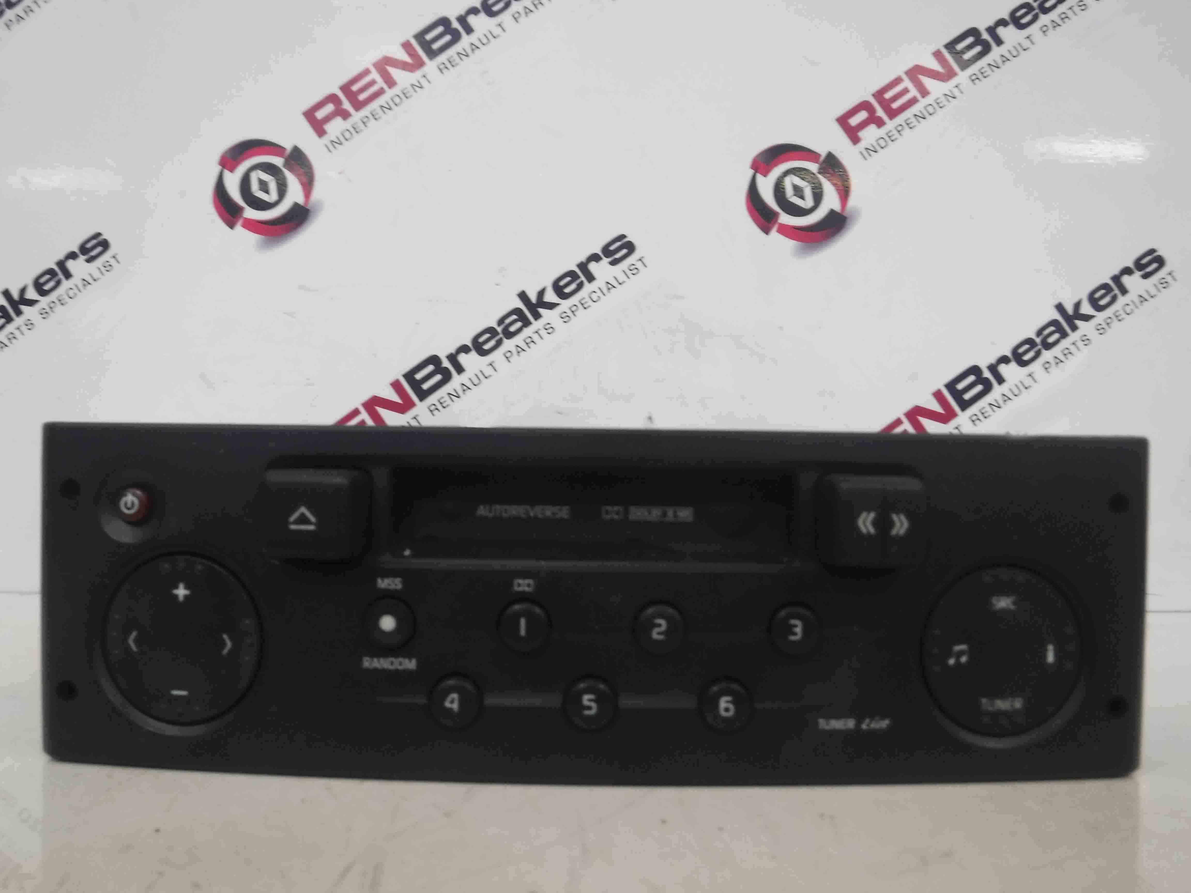 renault clio mk2 1998 2006 radio tape casette player code 8200029539 ebay. Black Bedroom Furniture Sets. Home Design Ideas