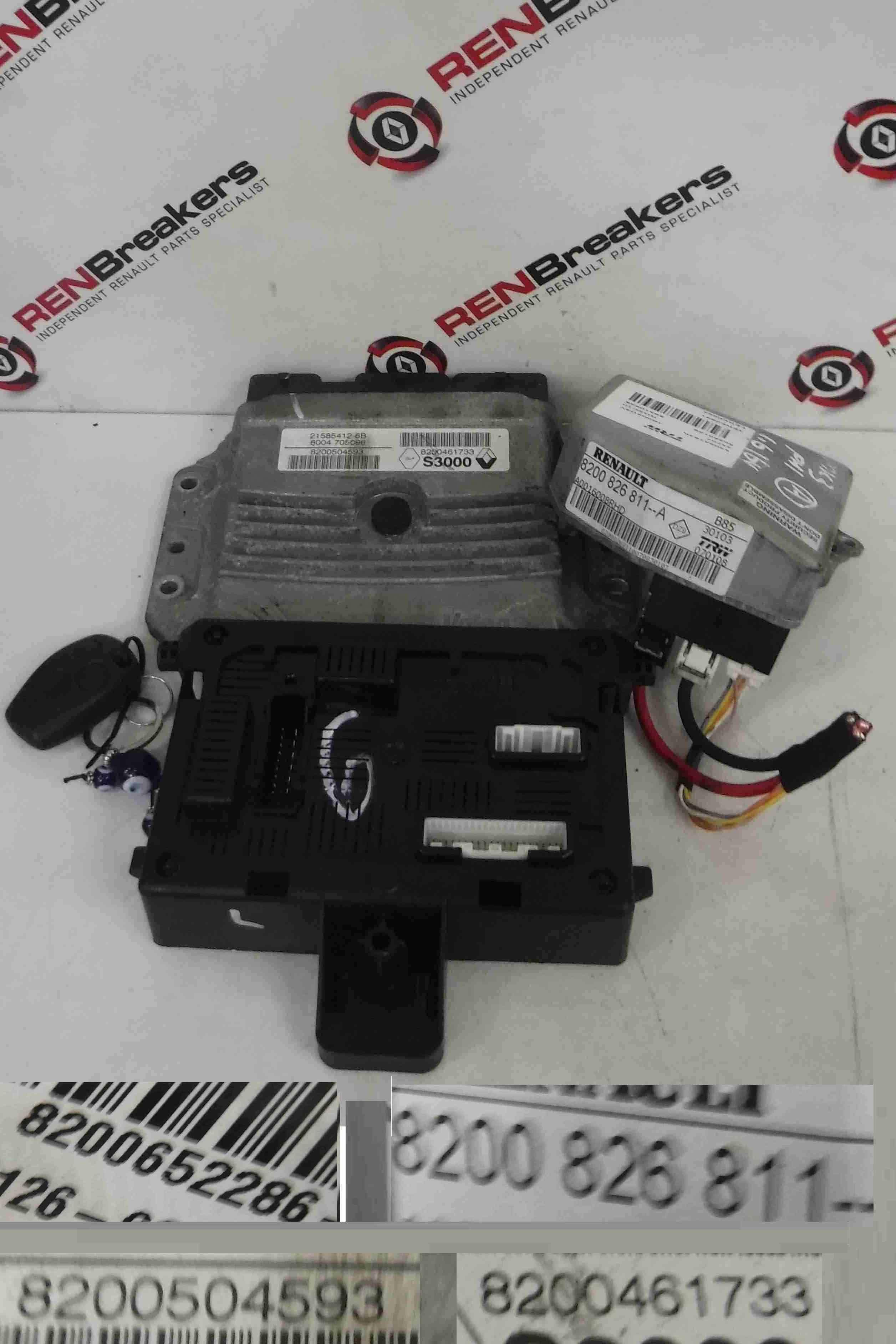Renault Clio MK3 2005-2009 1.6 16v ECU SET UCH BCM Immobiliser + Key Fob Auto