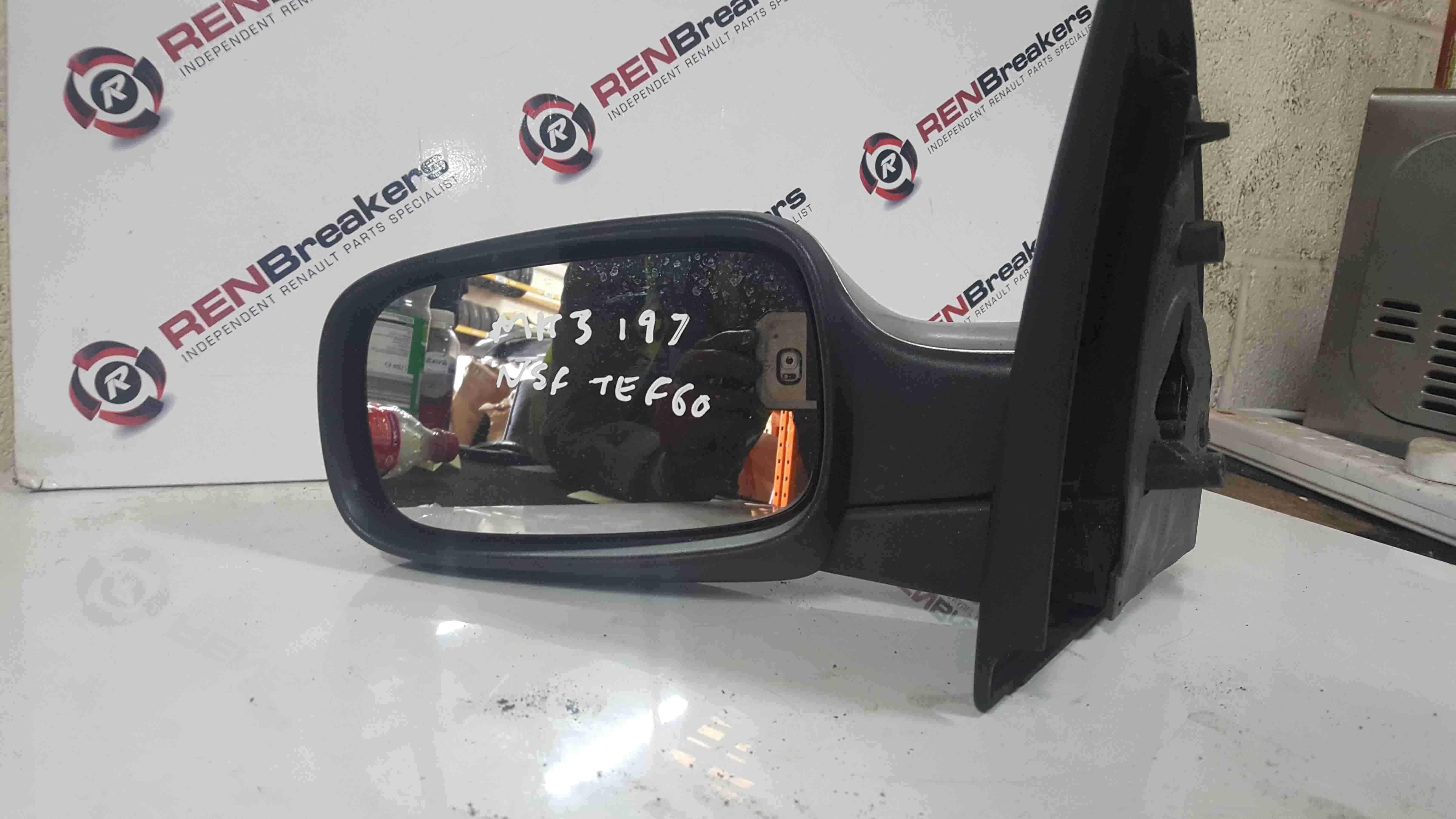 Renault Clio MK3 2005-2009 Passenger NS Wing Mirror Grey Silver TEF60