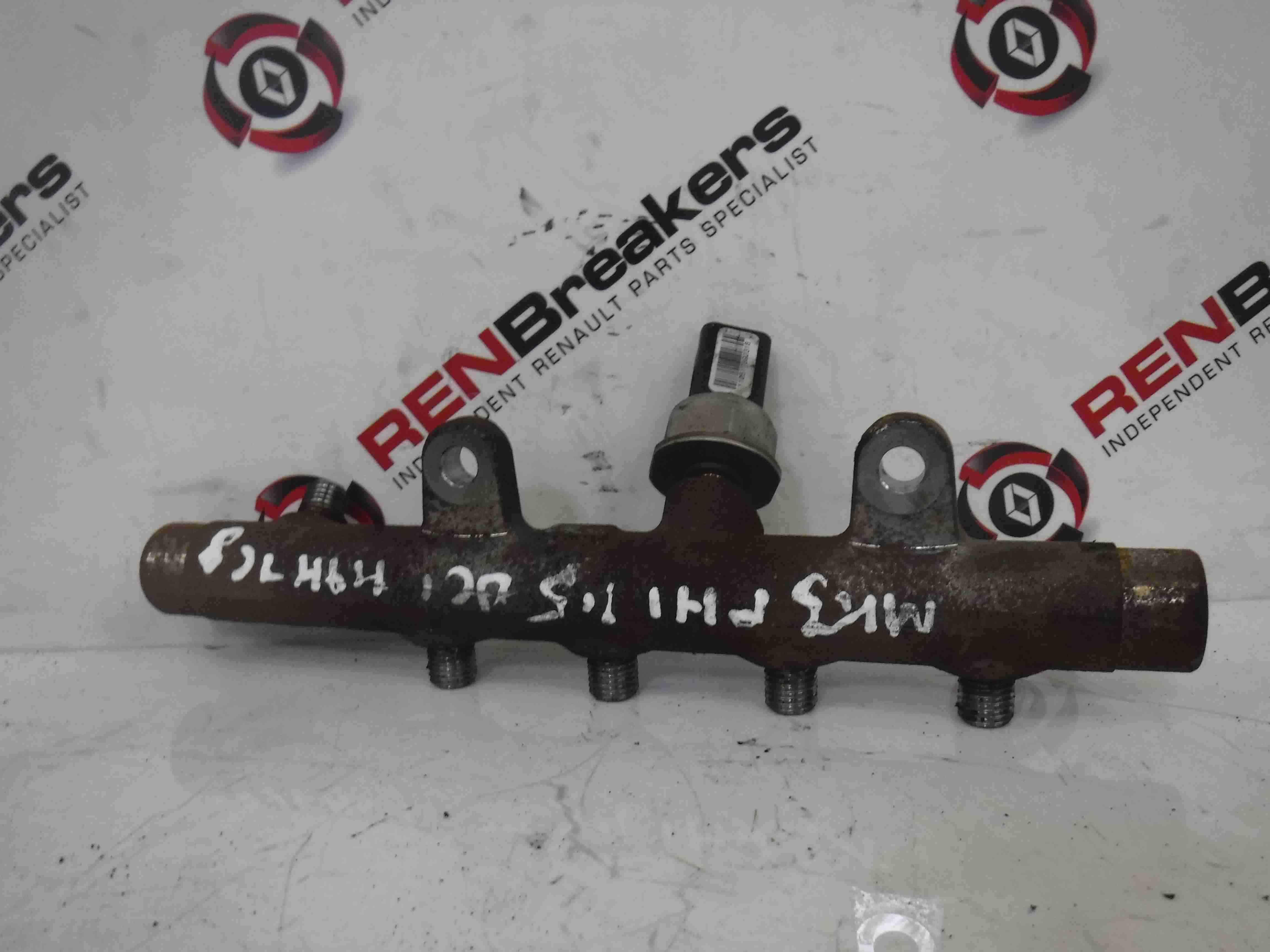 Renault Clio MK3 2005-2012 1.5 dCi Fuel Injector Rail + Pressure Sensor K9K 768