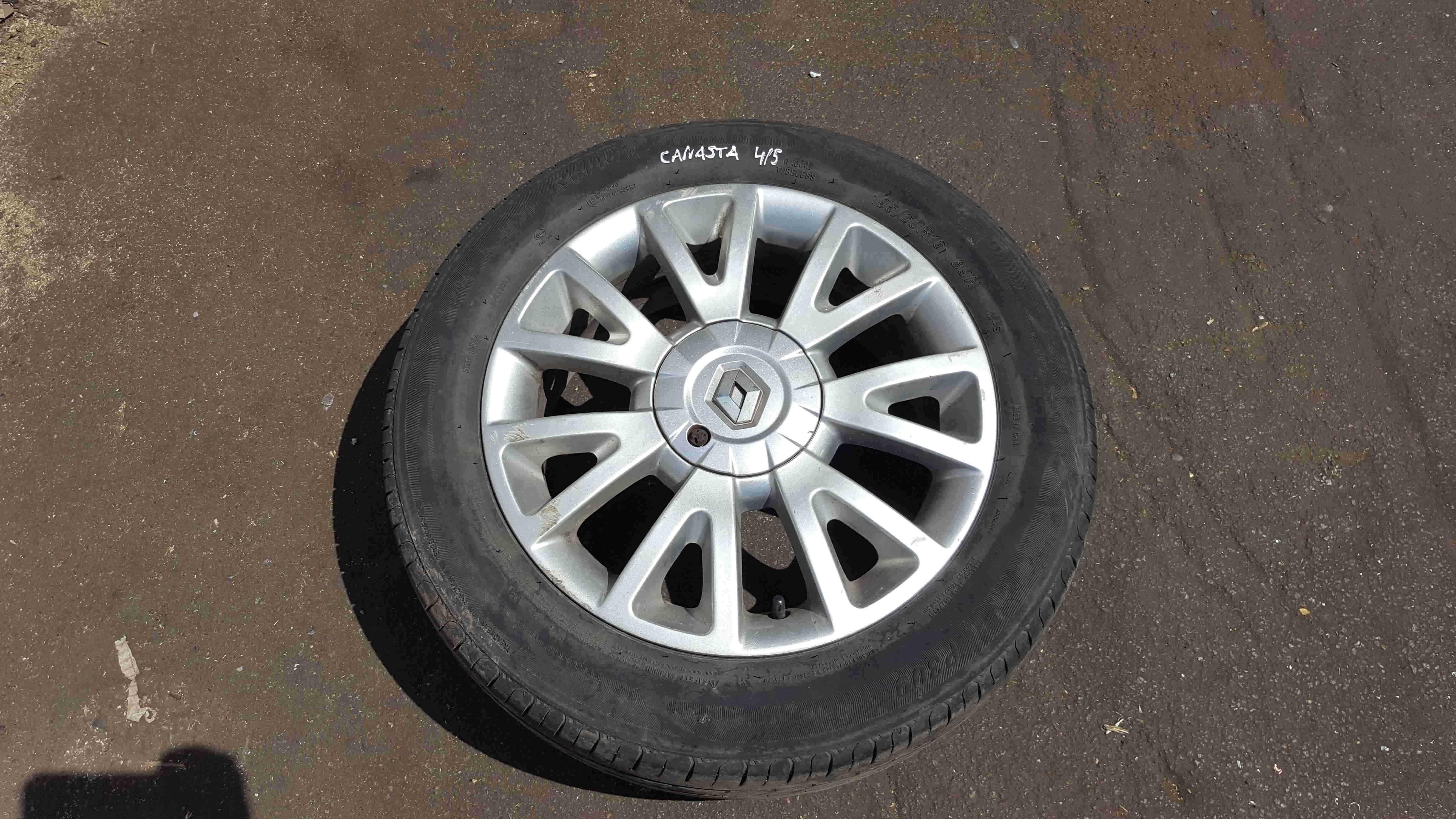 Renault Clio MK3 20052012 Canasta Alloy Wheel 16inch  Tyre 195 60 16 5mm