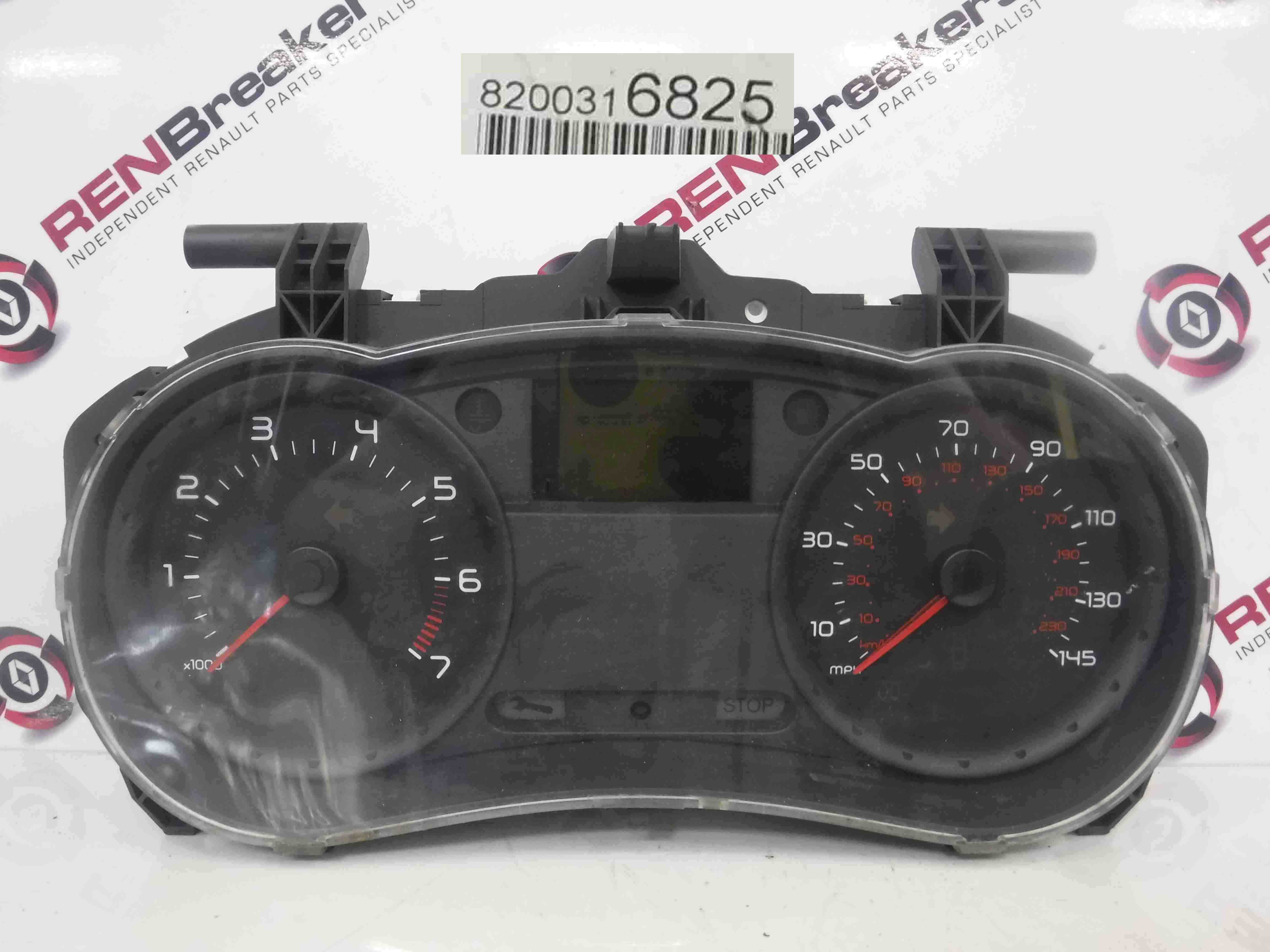 Renault Clio MK3 2005-2012 Instrument Panel Dials Clocks 97K 8200316825