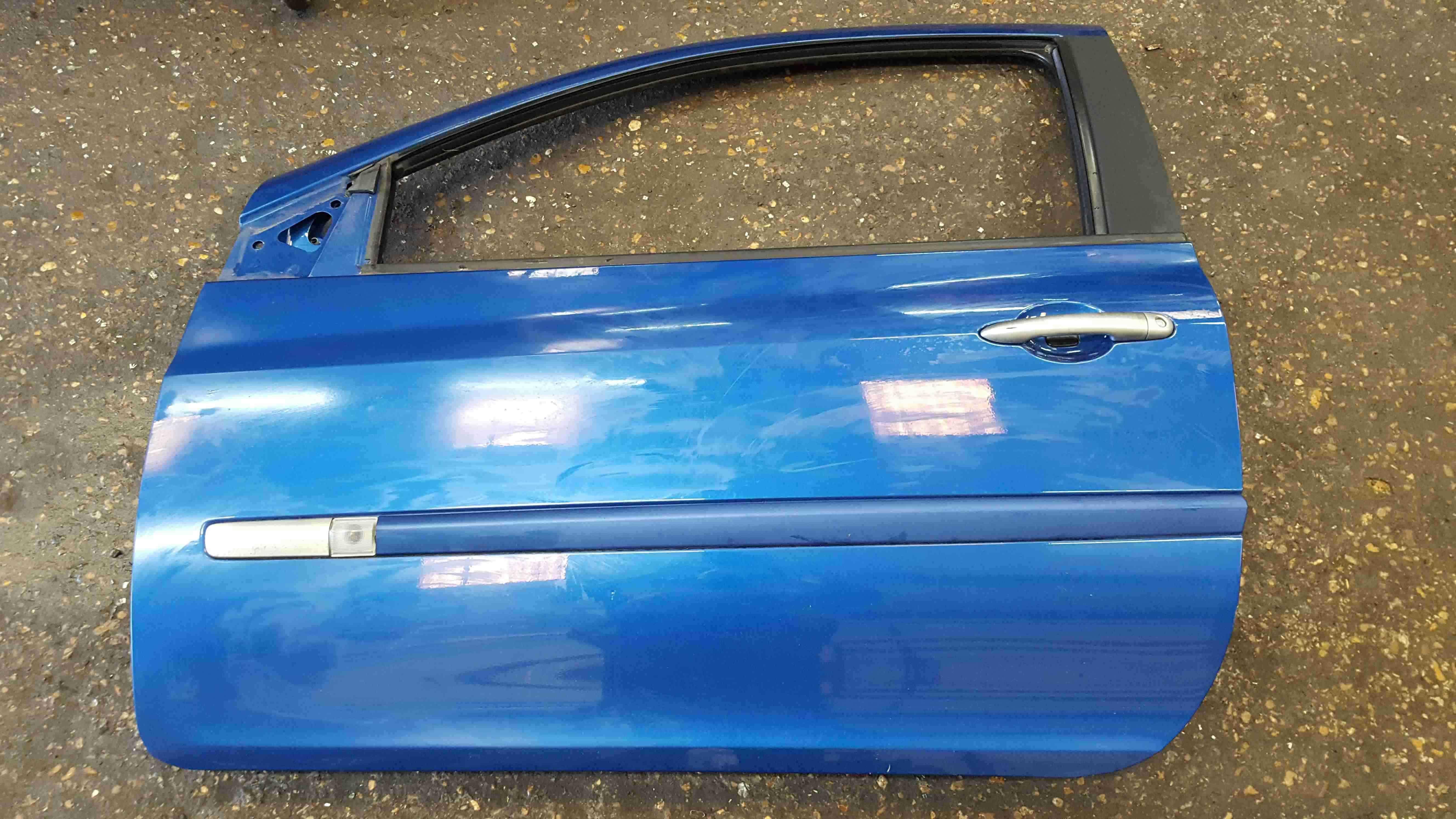 Renault Clio MK3 2005-2012 Passenger NSF Front Door Blue TERNA 3dr