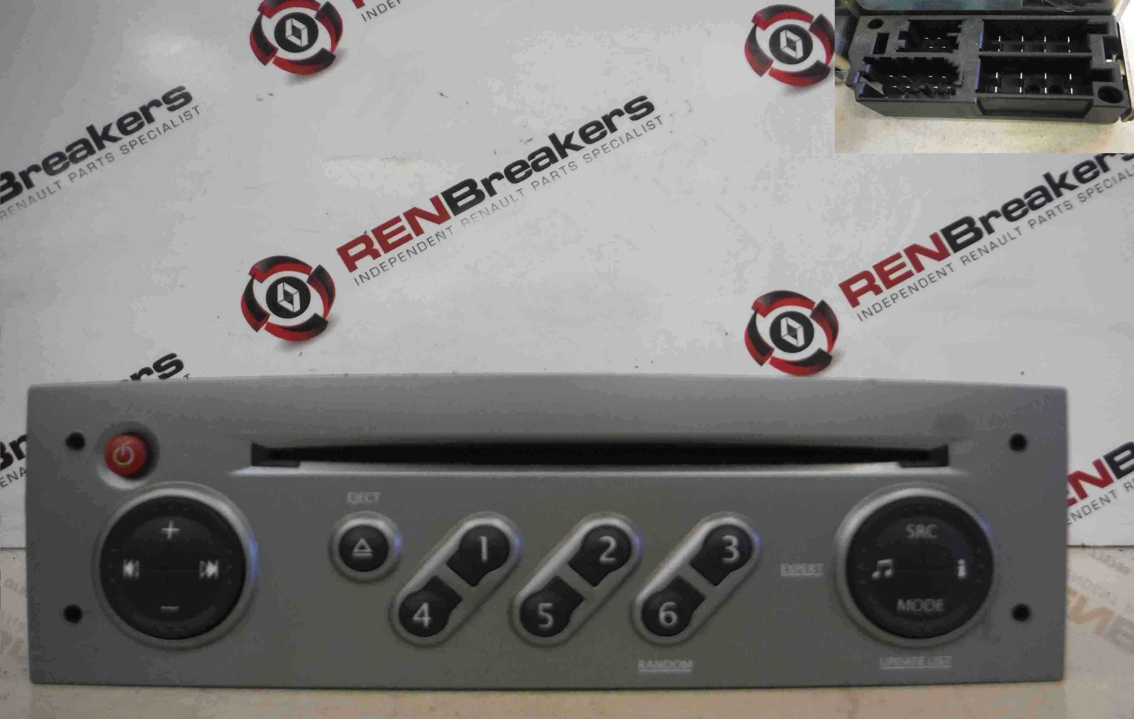 renault clio mk3 2005 2012 radio cd player update list code silver store renault breakers. Black Bedroom Furniture Sets. Home Design Ideas