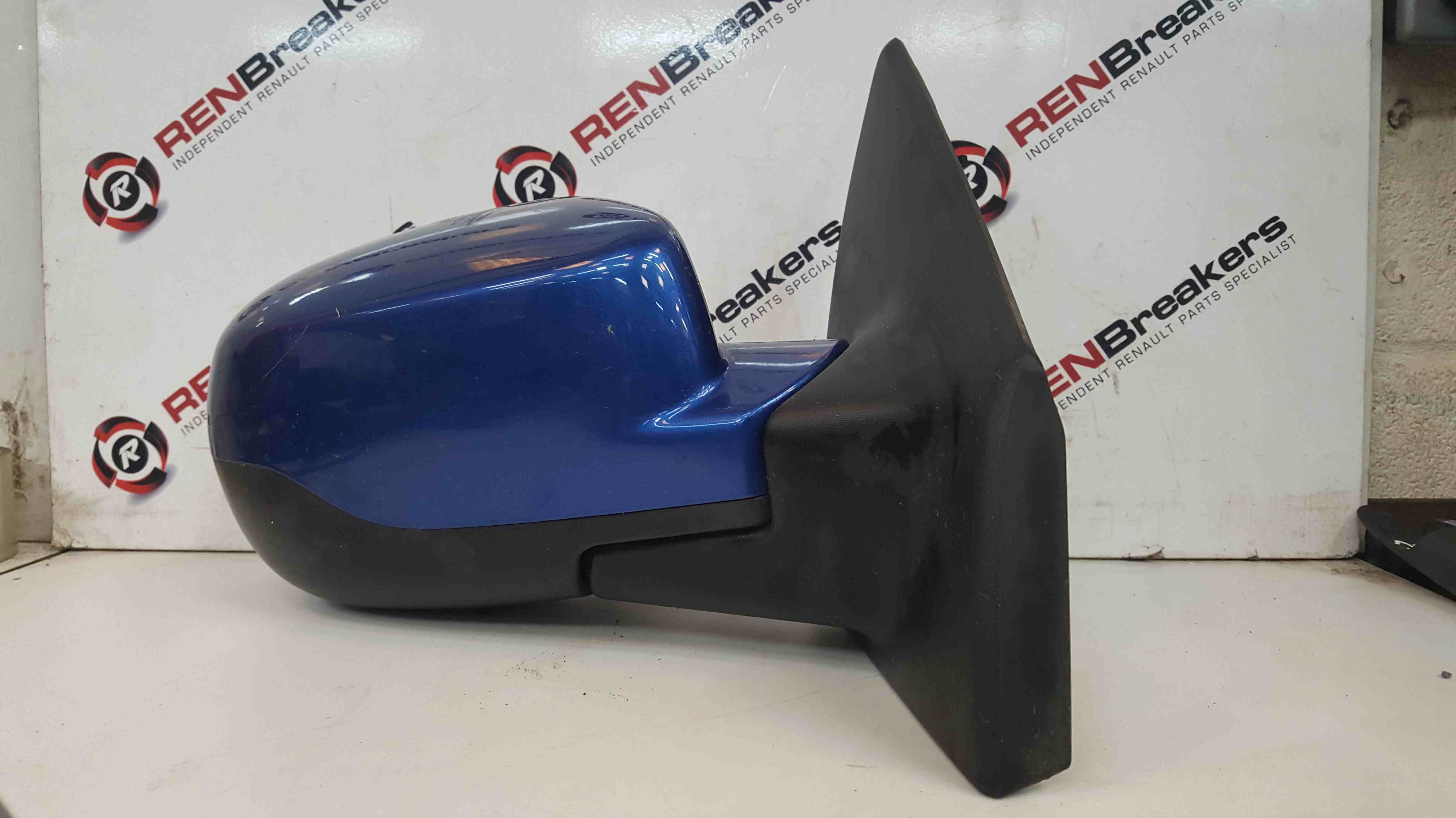 Renault Clio MK3 2009-2012 Drivers OS Wing Mirror Blue TERNA