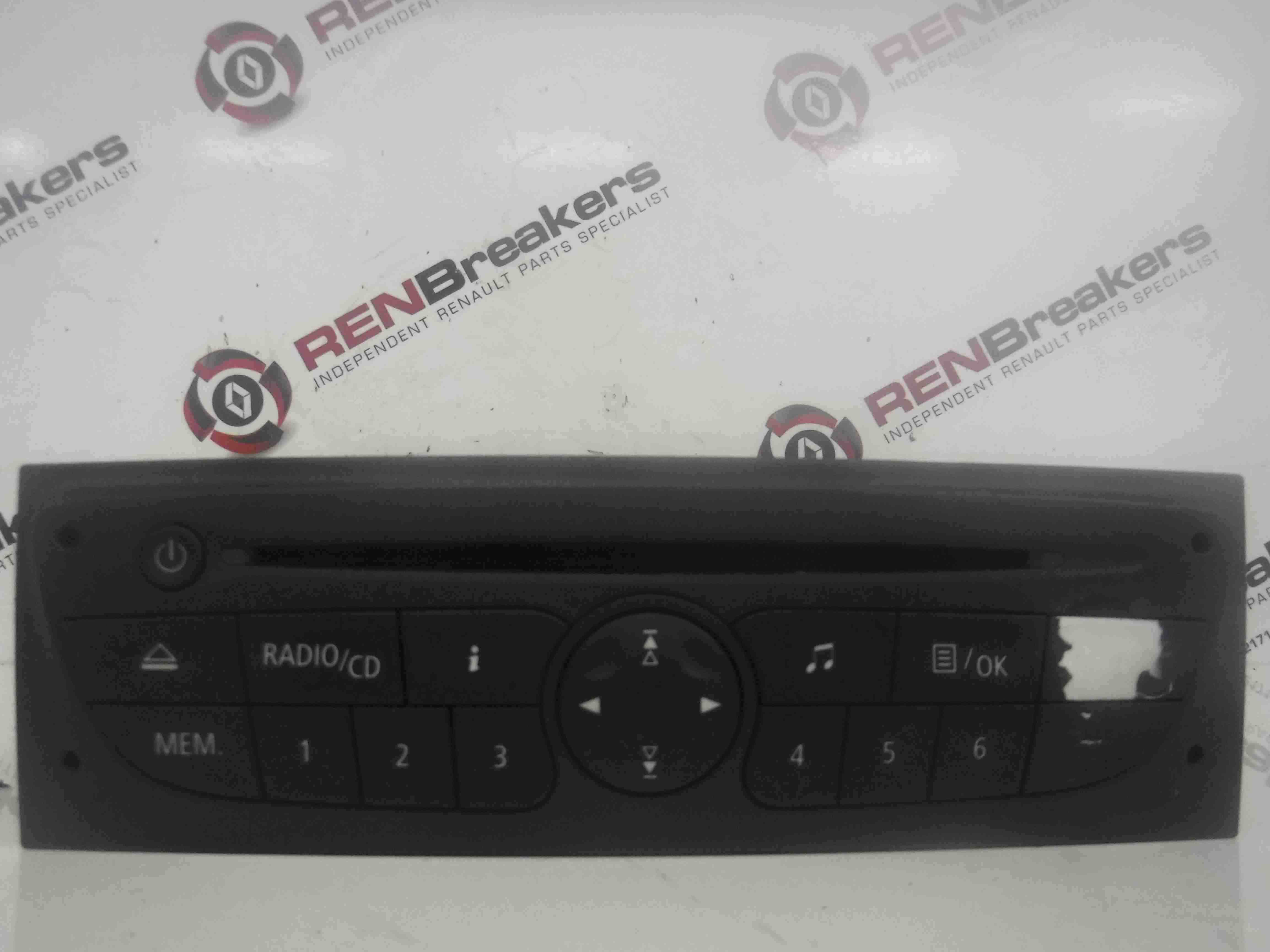 renault clio mk3 2009 2012 radio stereo cd player. Black Bedroom Furniture Sets. Home Design Ideas