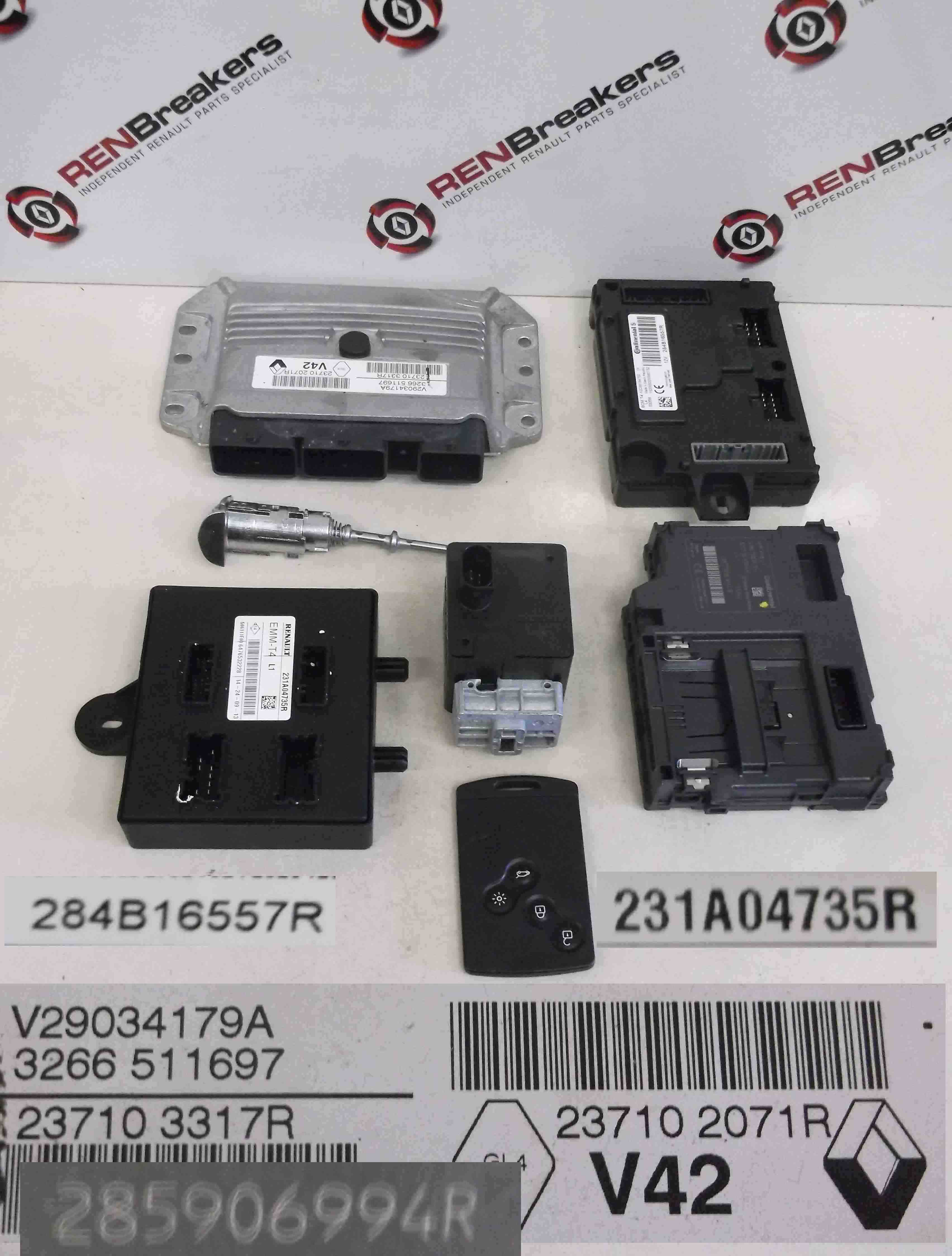 renault clio mk4 2013 2015 1 2 16v ecu set kit uch bcm fuse box click here for a high resolution photo