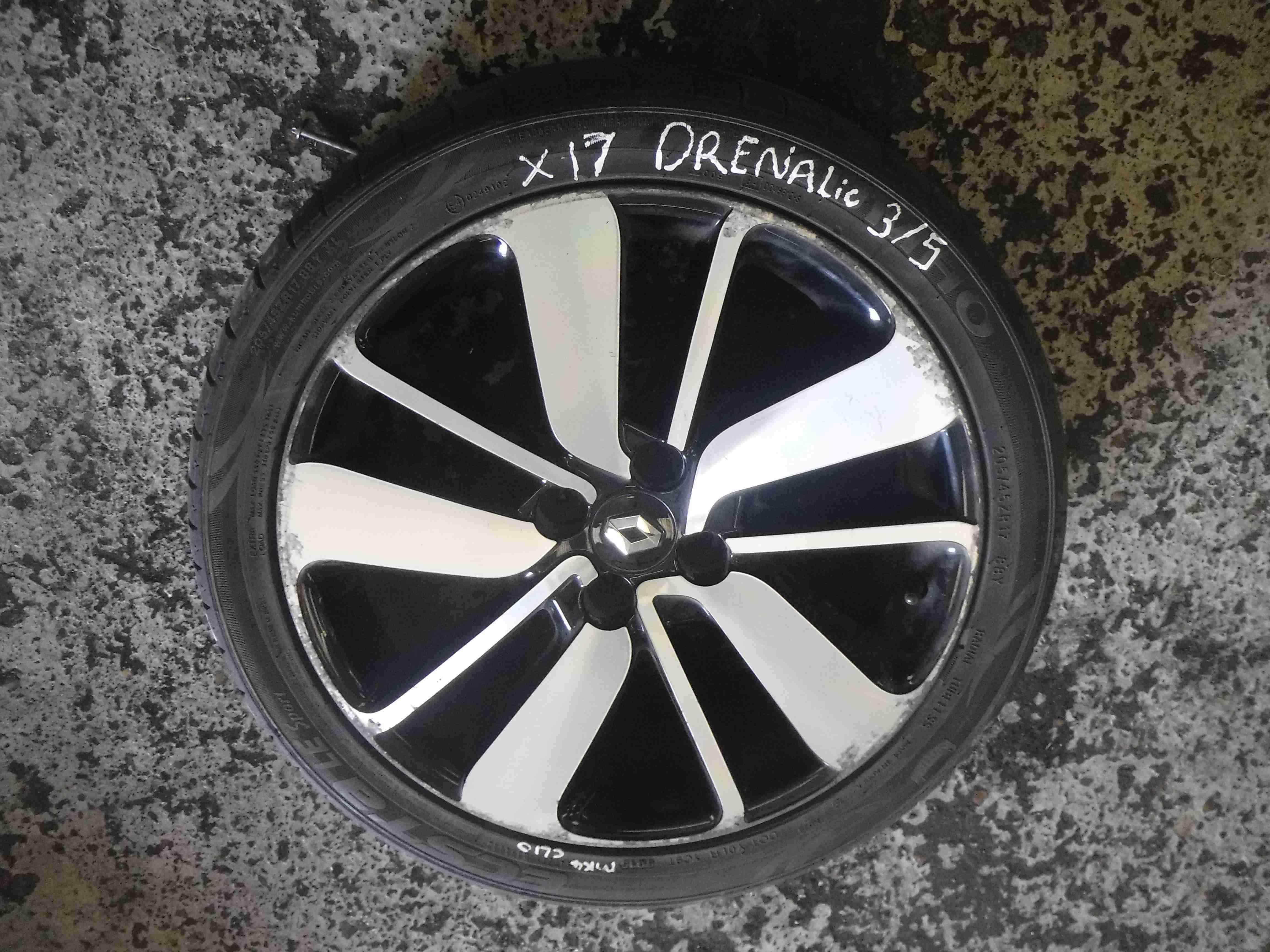 Renault clio mk4 2013 2017 drenalic alloy wheel 17inch for 17 inch d window wheels
