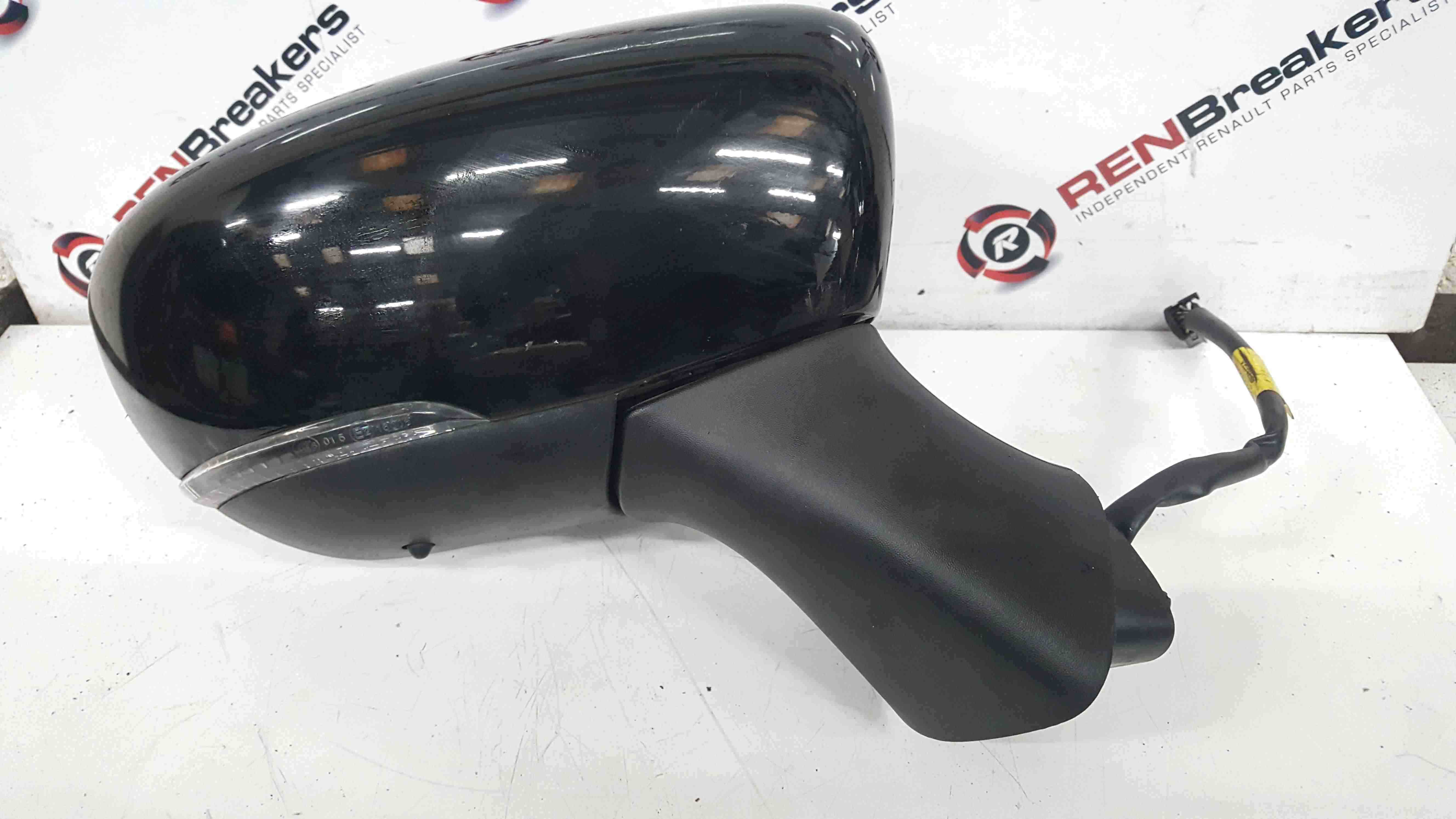 Renault Clio MK4 2017-2018 Drivers OS Wing Mirror Black Folding 963019404R