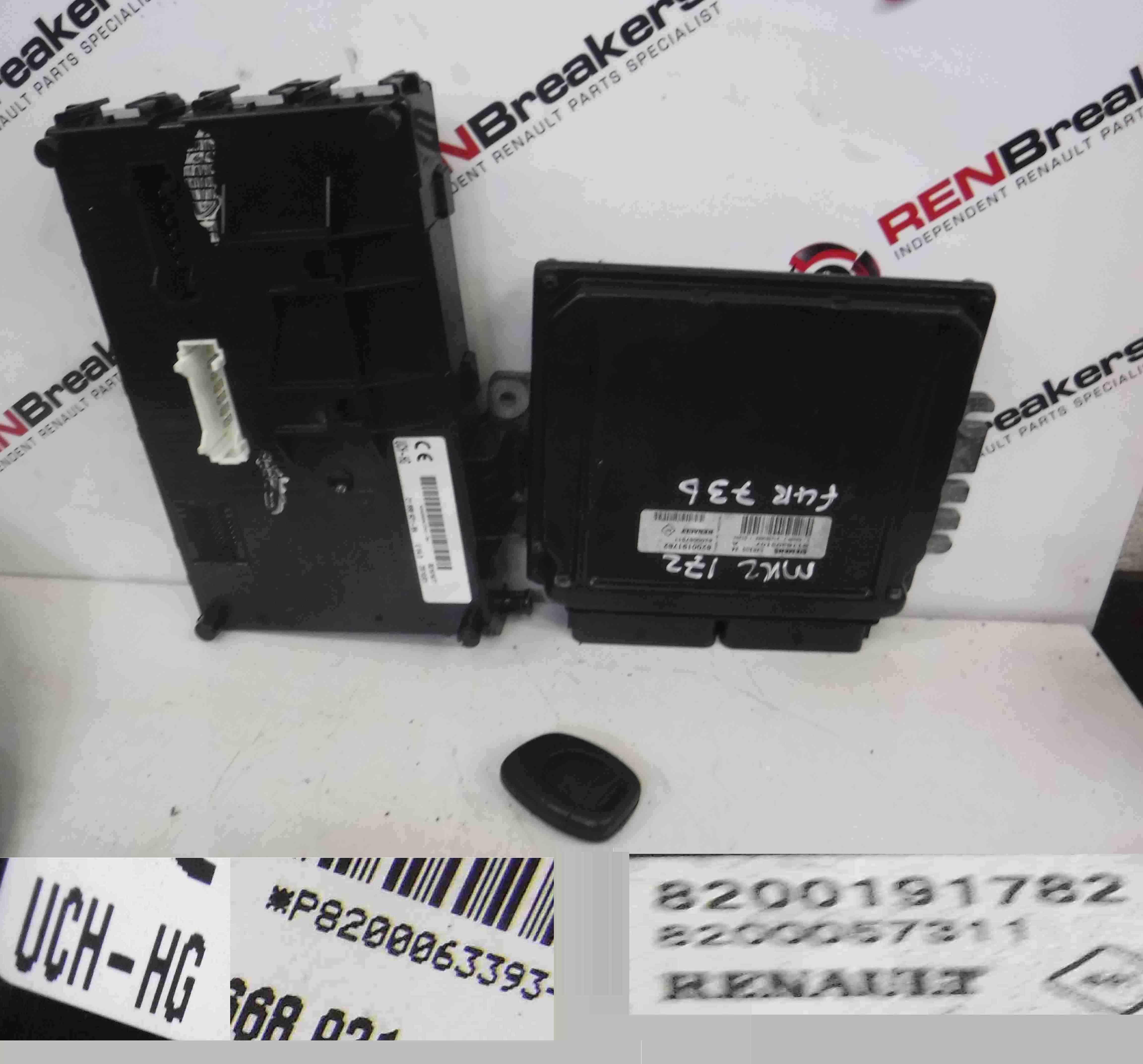 Renault Clio Sport 2001-2006 172 182 2.0 16v ECU SET UCH BCM Immobiliser + Key