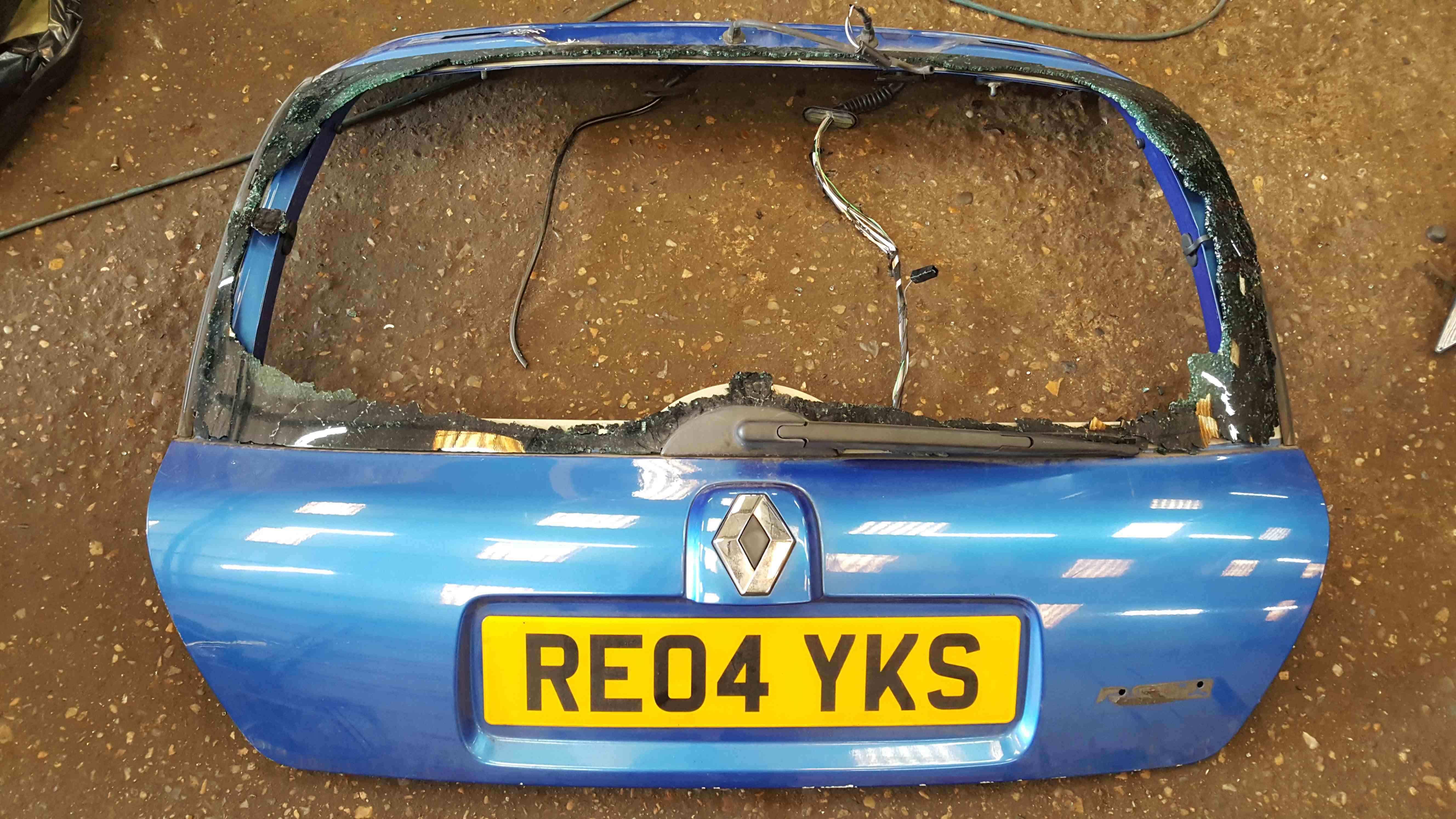 Renault Clio Sport MK2 2001-2006 Rear Tailgate Boot Blue TEJ41