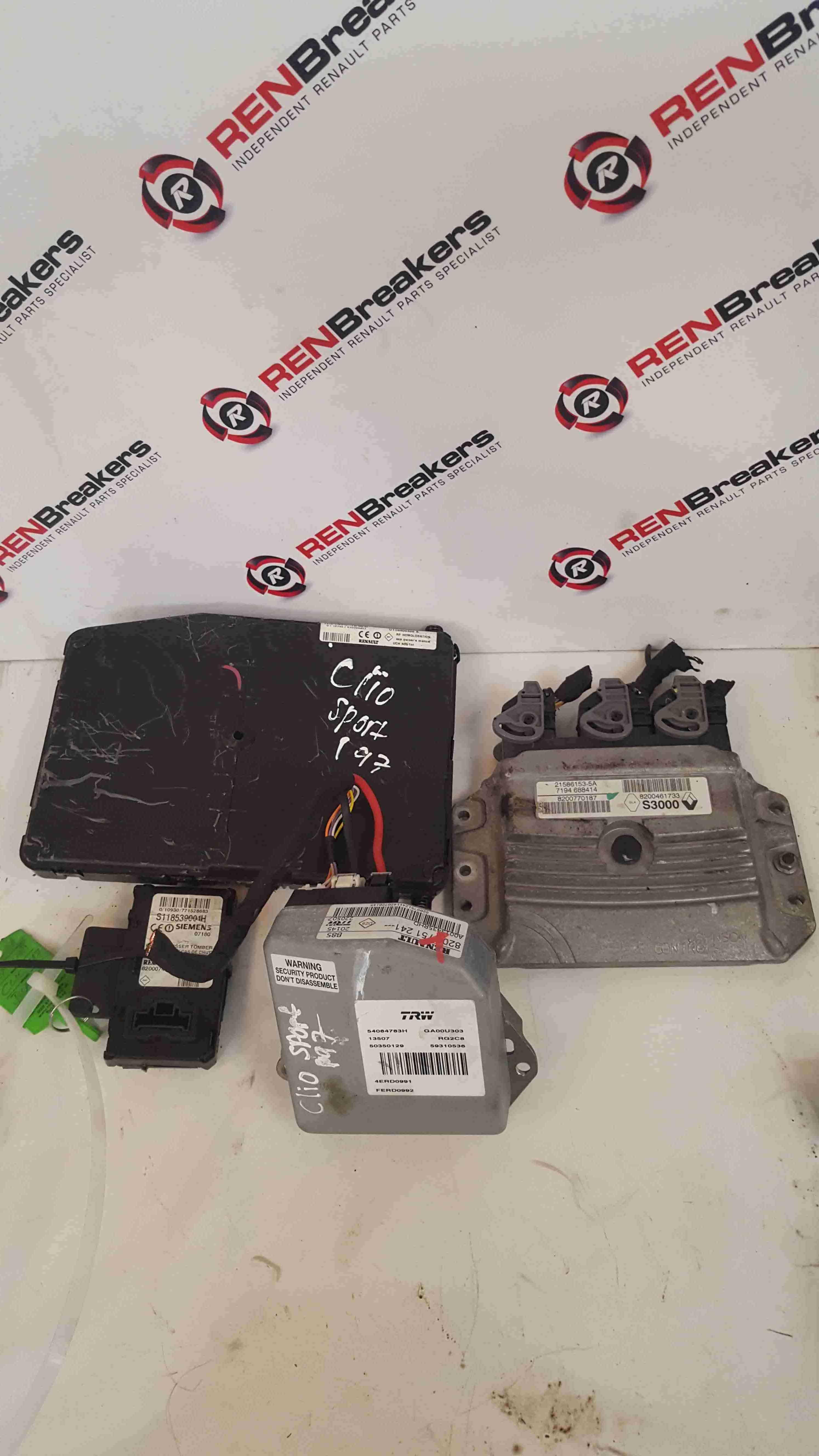 Renault Clio Sport MK3 2005-2009 197 2.0 ECU Set UCH BCM + Key Card 8200751241