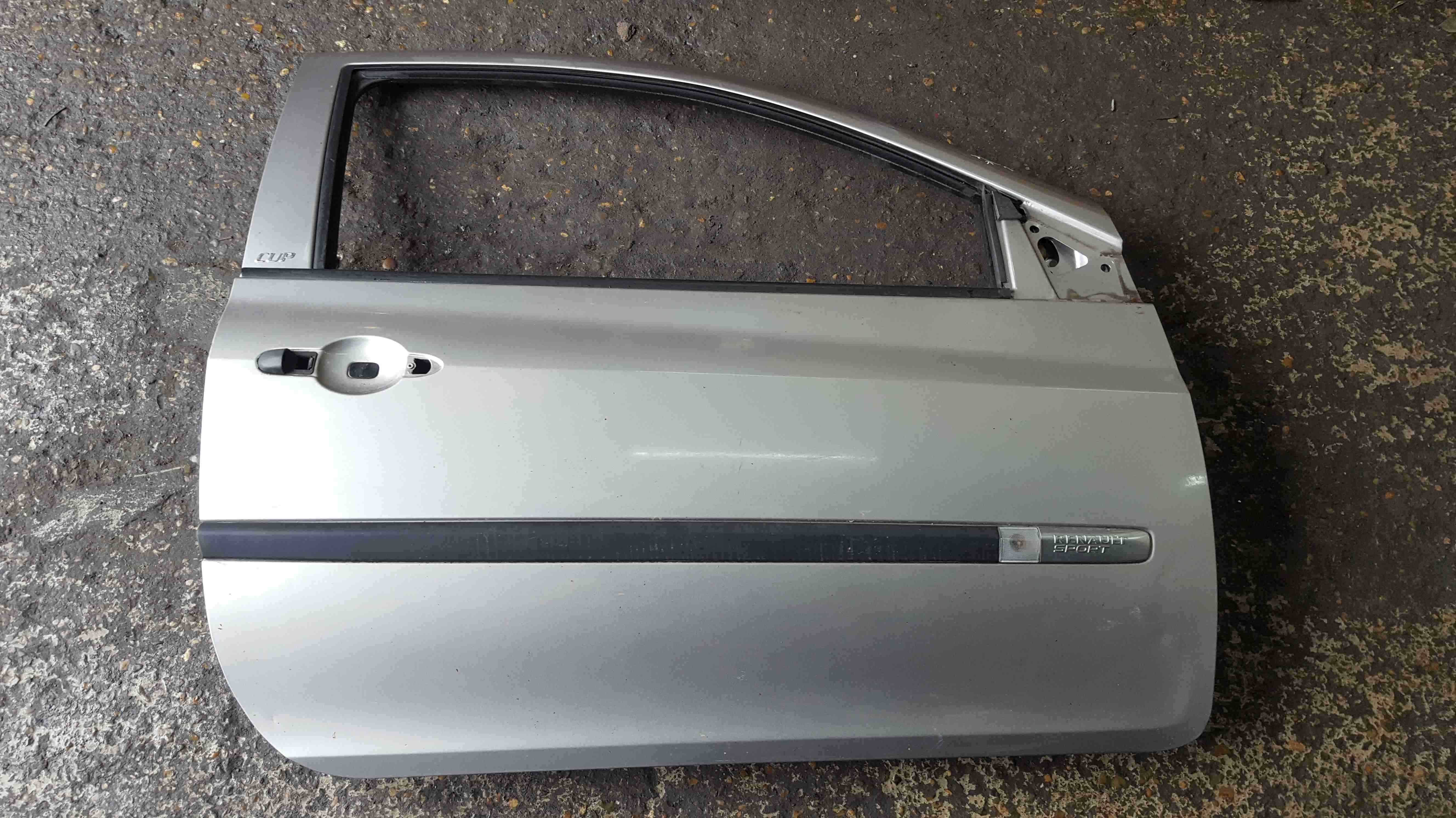 Renault Clio Sport MK3 2005-2012 197 Drivers OSF Front Door Silver TEF60