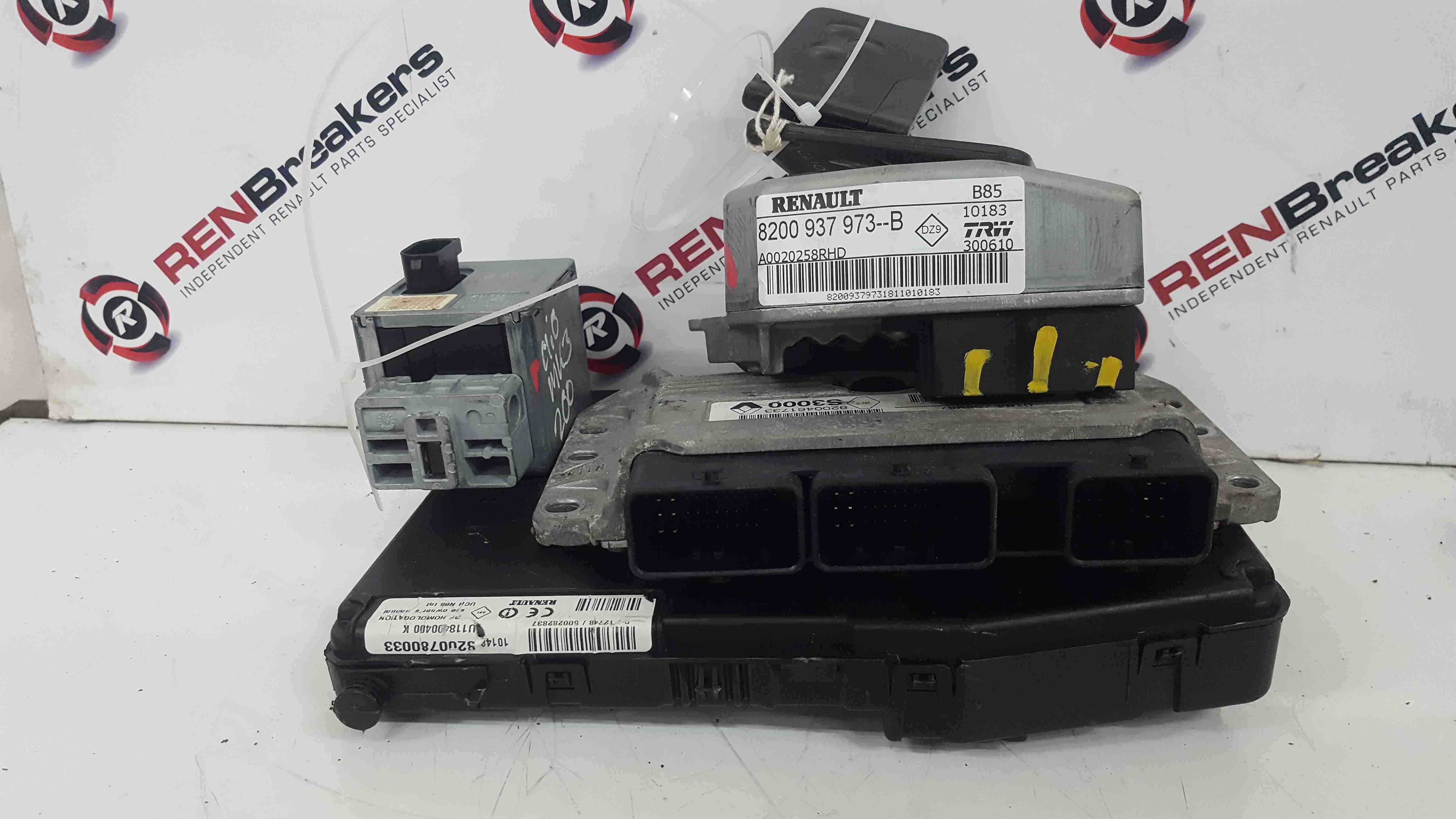 Renault Clio Sport MK3 2009-2012 200 2.0 ECU Set UCH BCM Immobiliser + Key Card