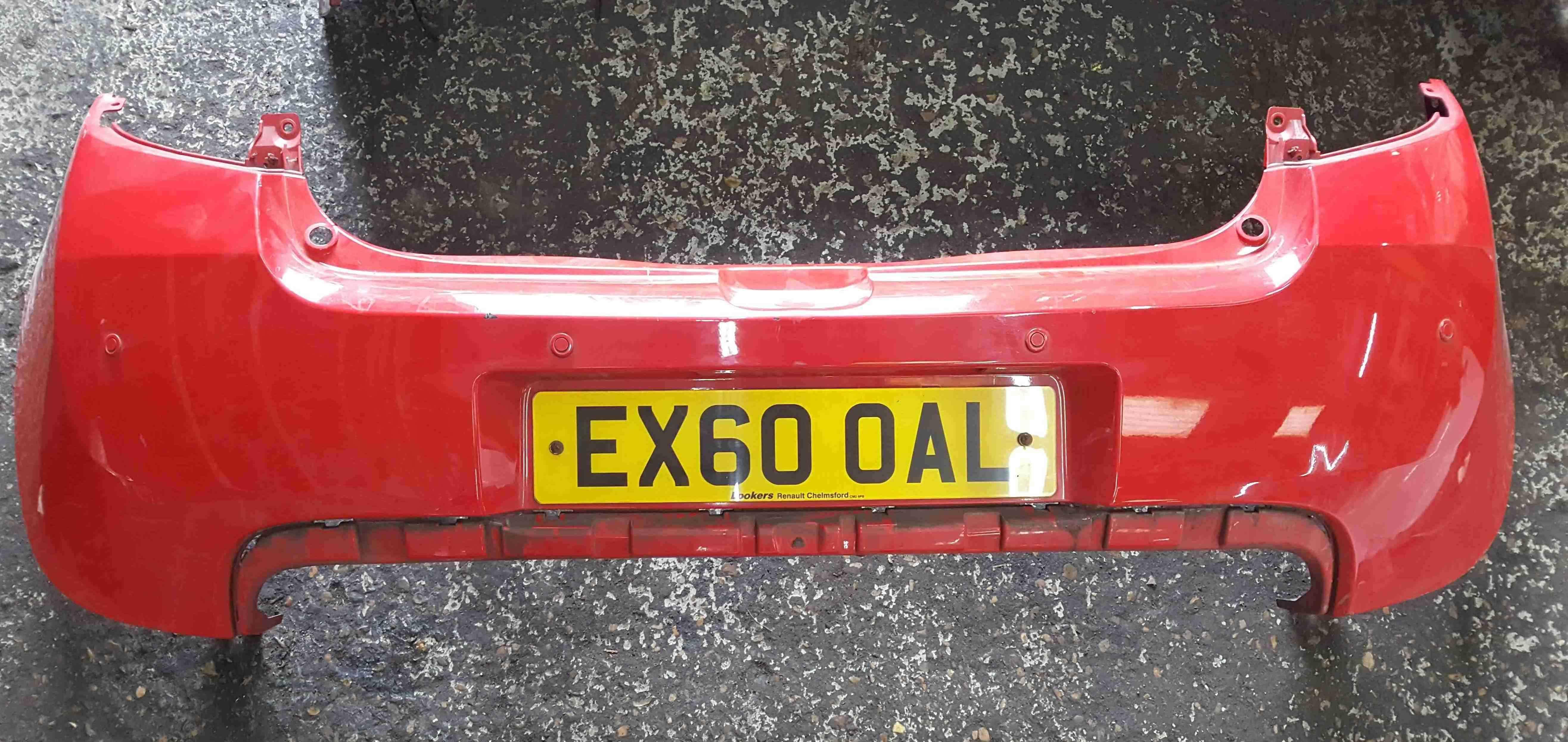 Renault Clio Sport MK3 2009-2012 200 Rear Bumper Red OVNNF + Parking Sensors