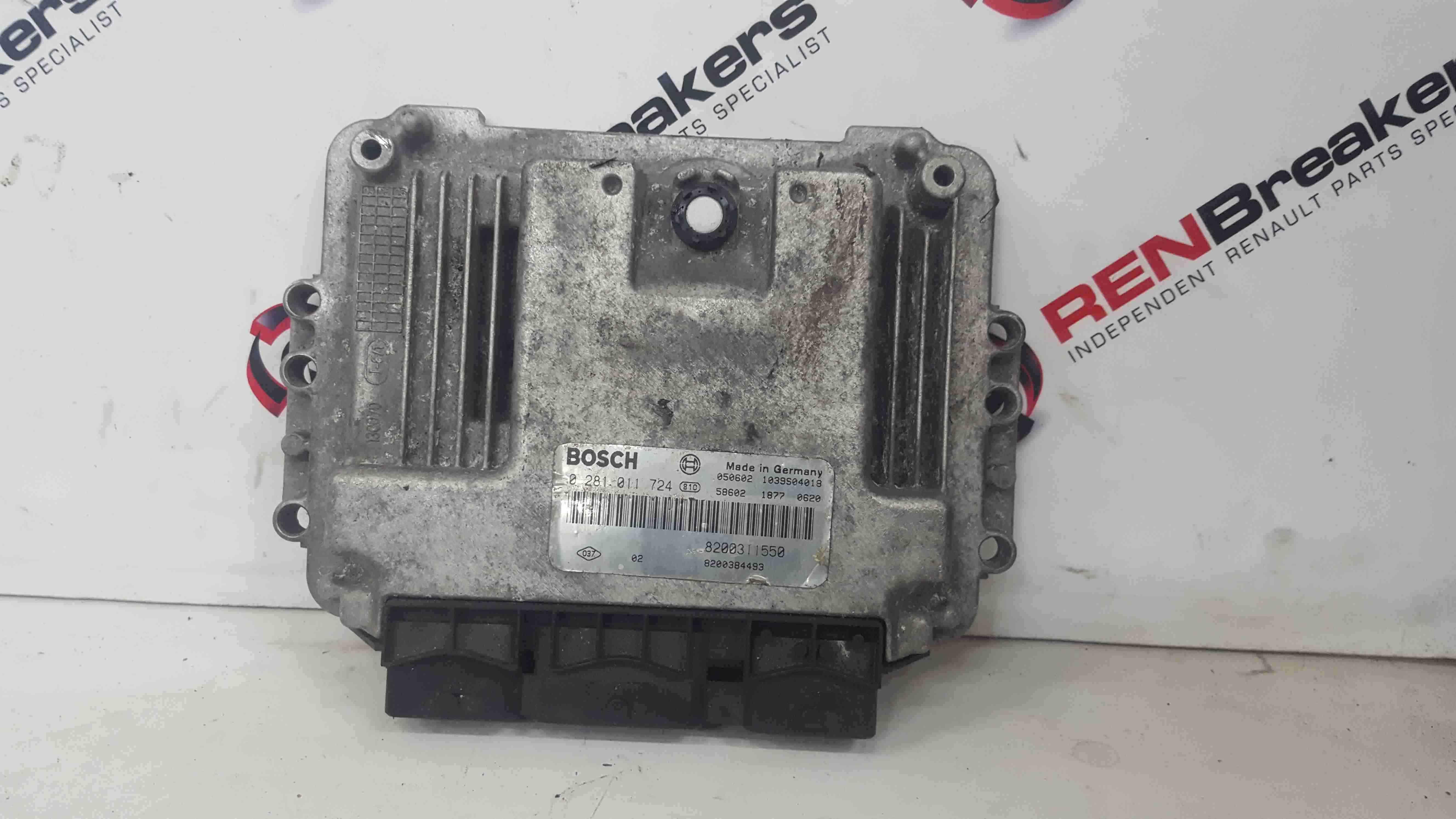 Renault Espace 2003-2013 2.2 DCi Engine Control Unit ECU 8200311550 8200384493