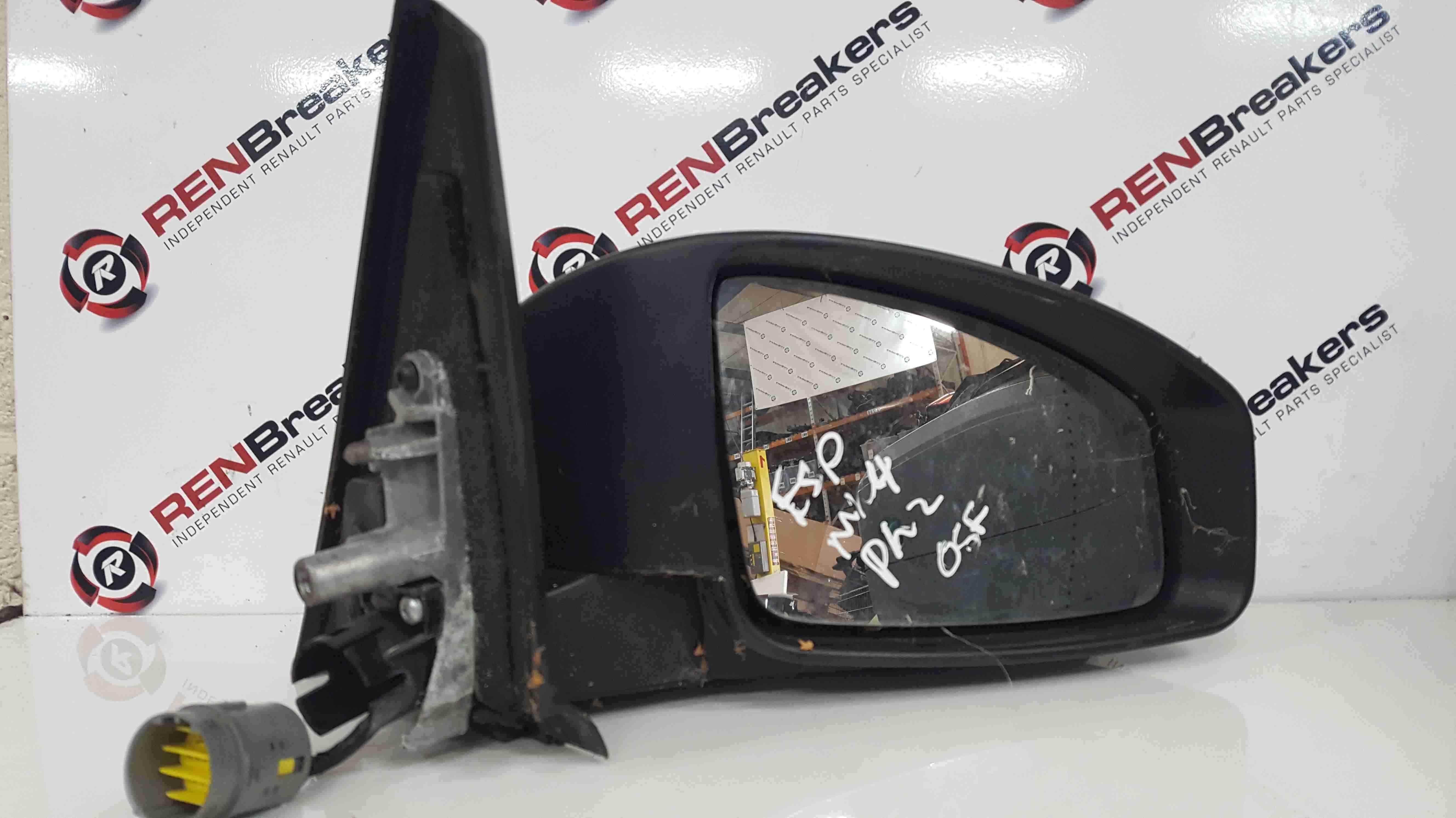 Renault Espace 2003-2013 Drivers OS Wing Mirror Grey TEB66