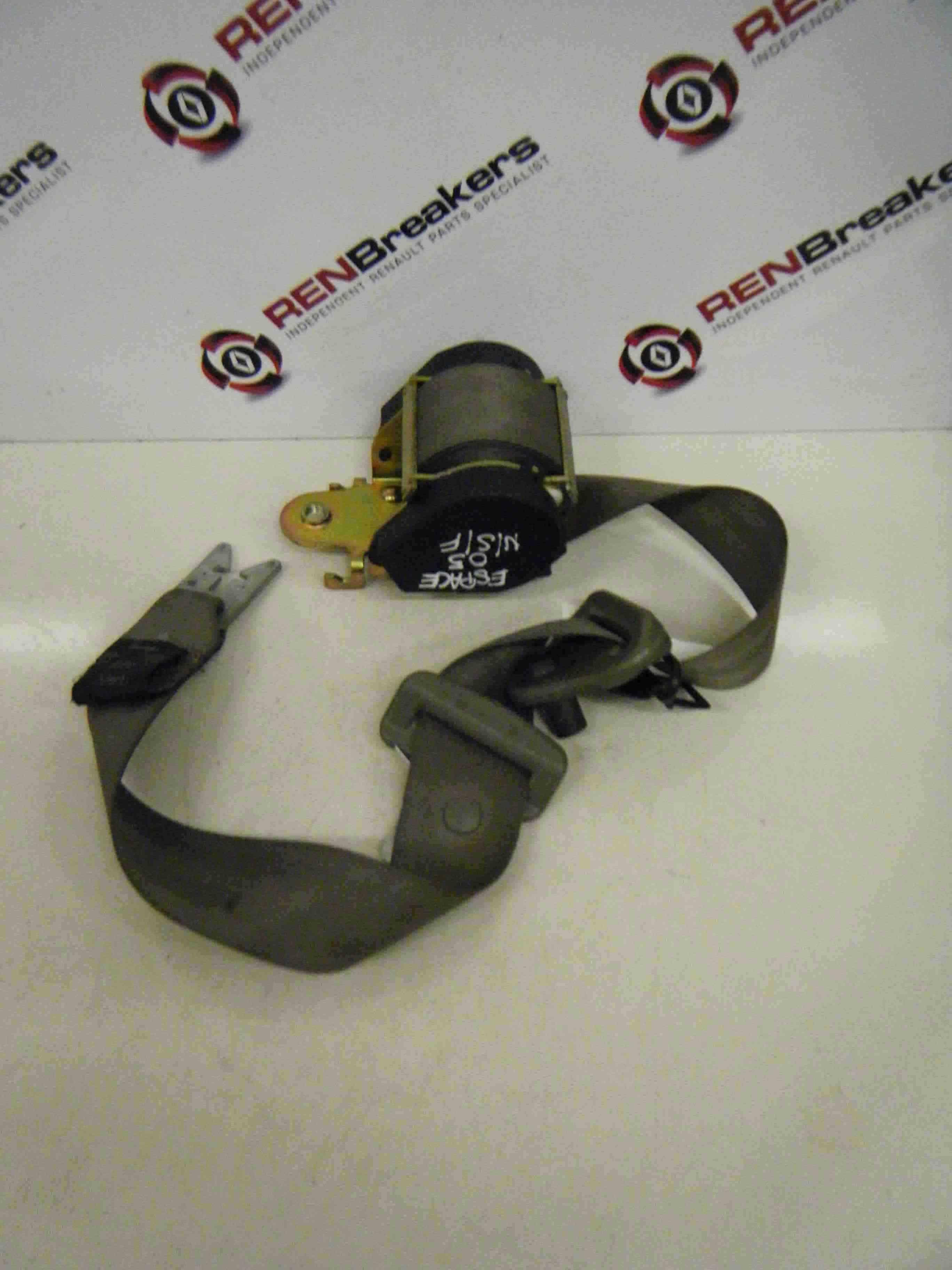 Renault Espace 2003-2013 Passenger NSF Front Seat Belt Light Grey Beige