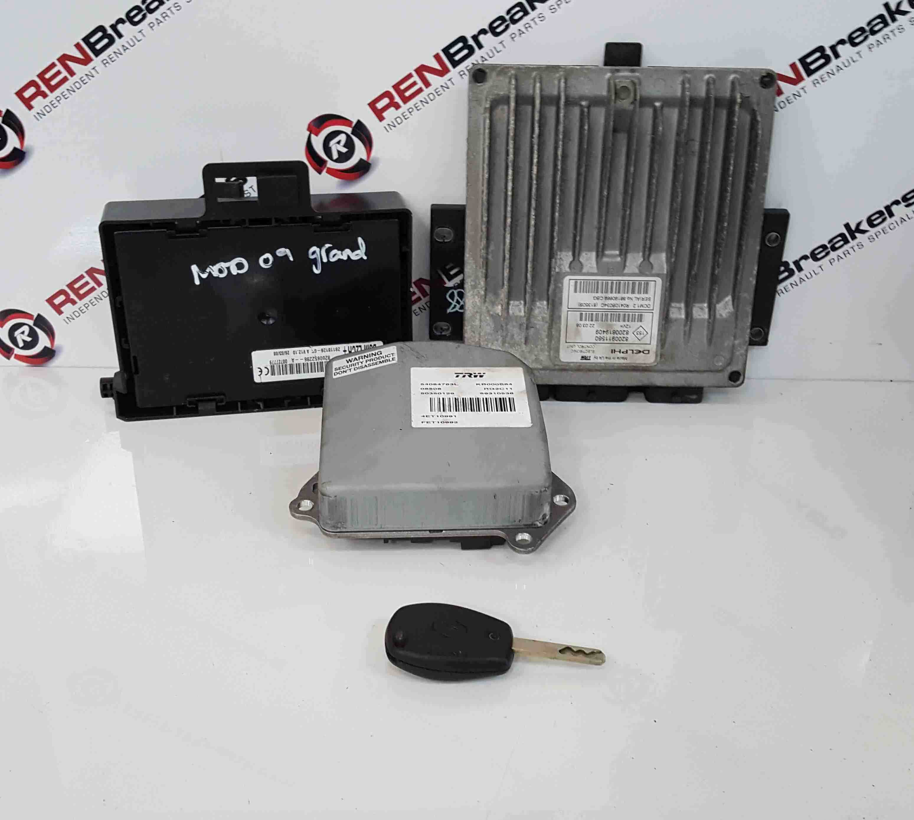 Renault Grand Modus 2008-2012 1.5 DCi ECU SET UCH BCM Immobiliser + Key Fob