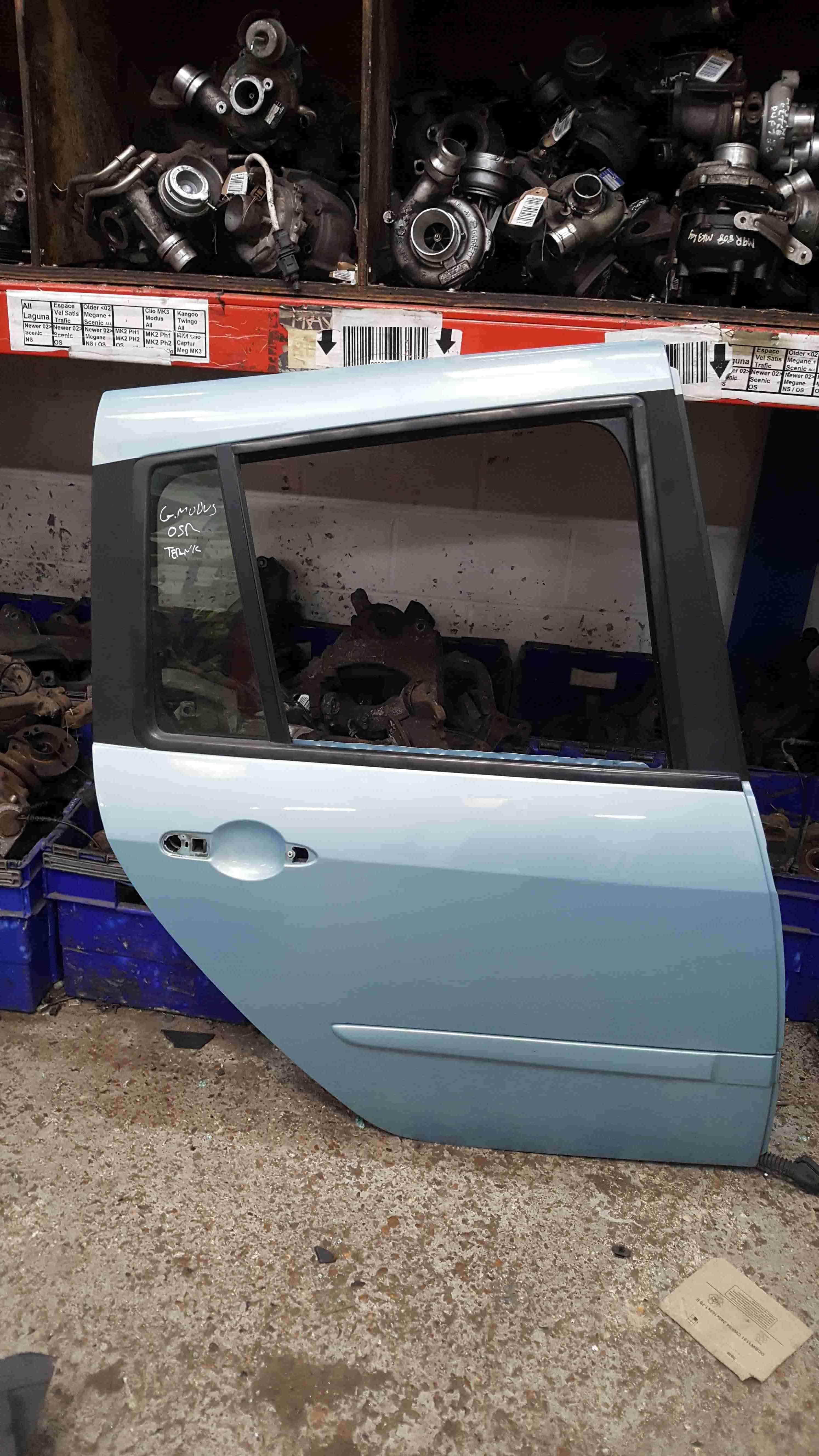 Renault Grand Modus 2008-2012 Drivers OSR Rear Door Aqua Blue TERNK
