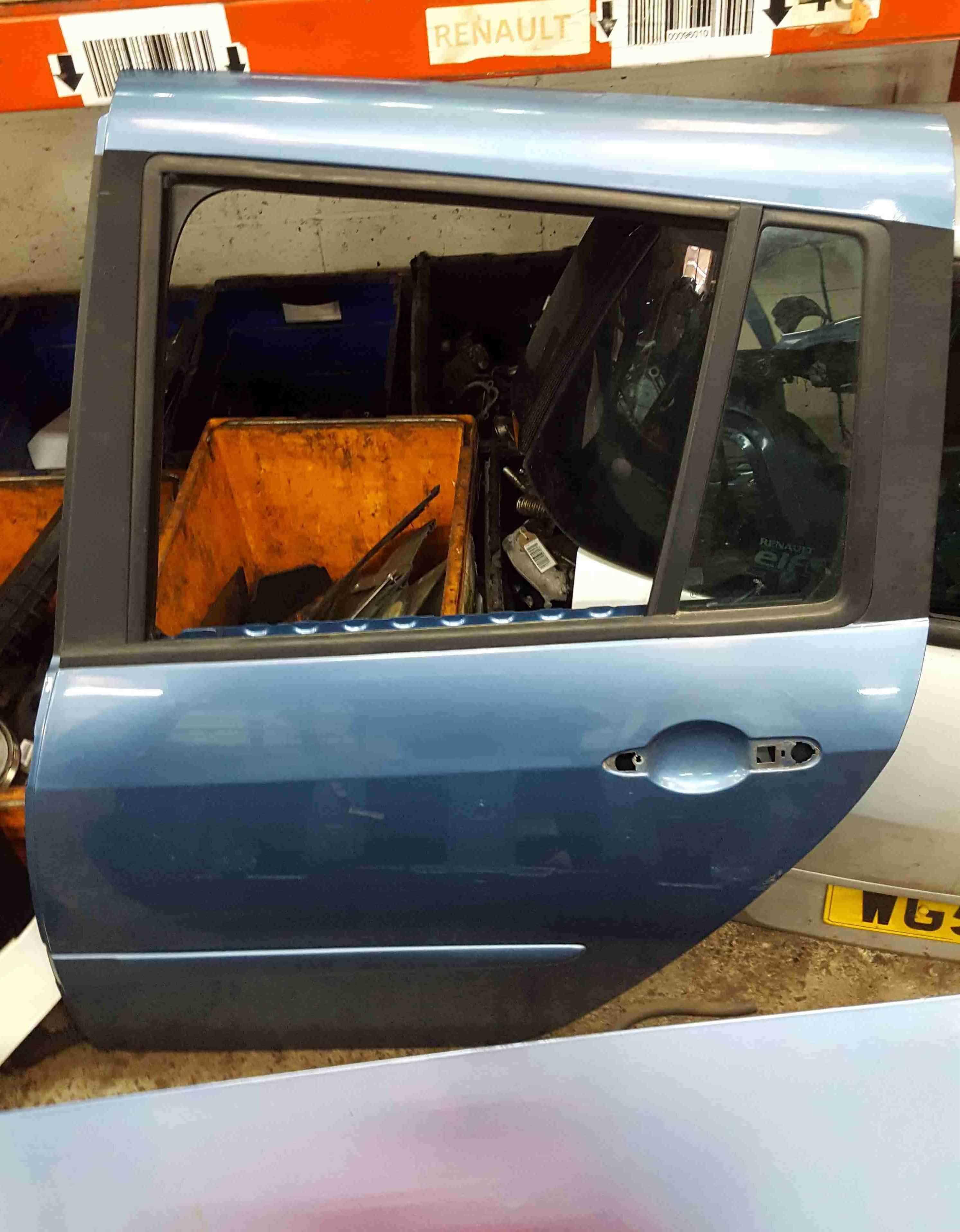 Renault Grand Modus 2008-2012 Passenger NSR Rear Door Blue TERNL