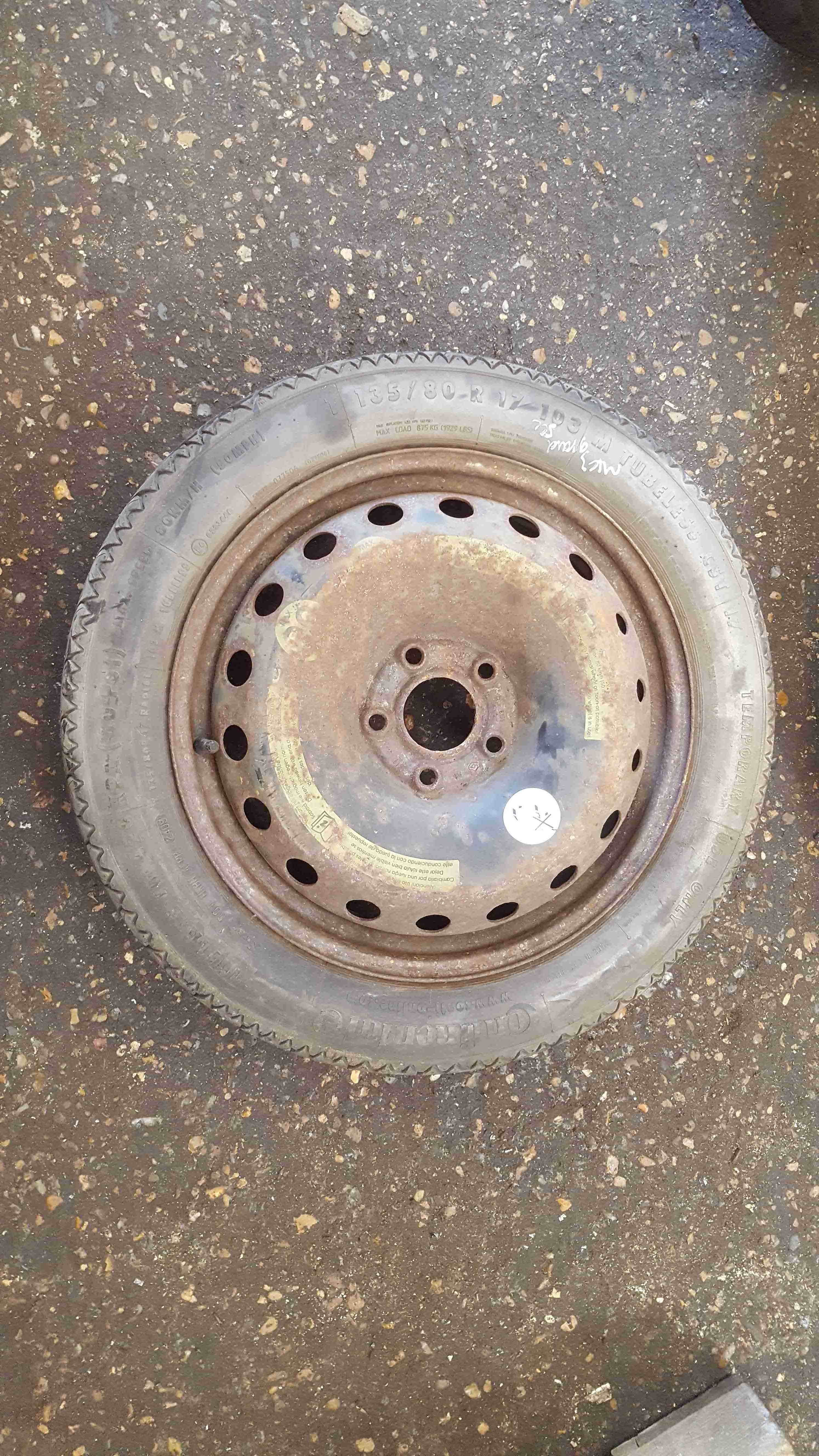 Renault Grand Scenic 2003-2009 Space Saver Steel Wheel 17inch