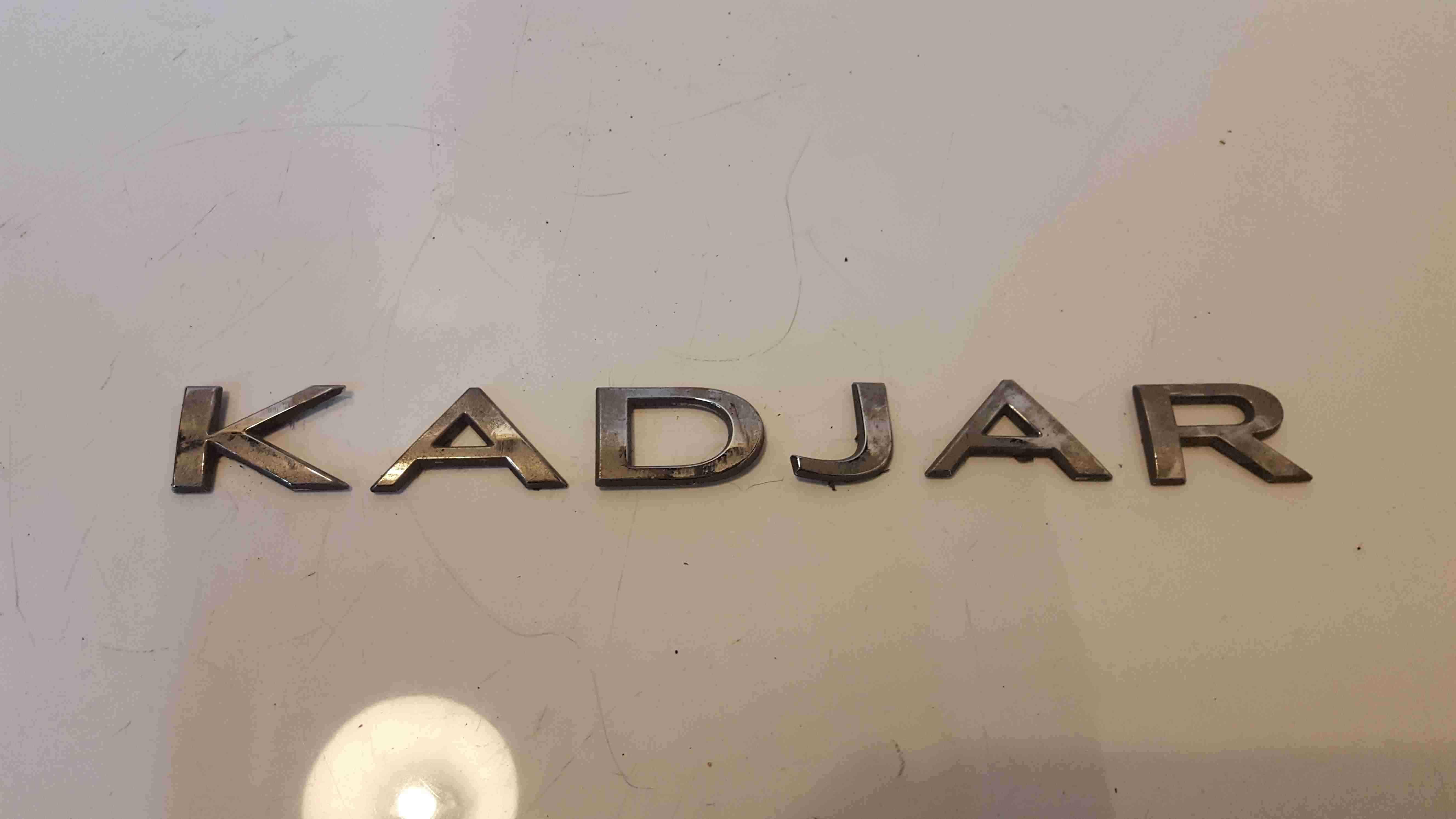Renault Kadjar 2015-2018 Boot Letters