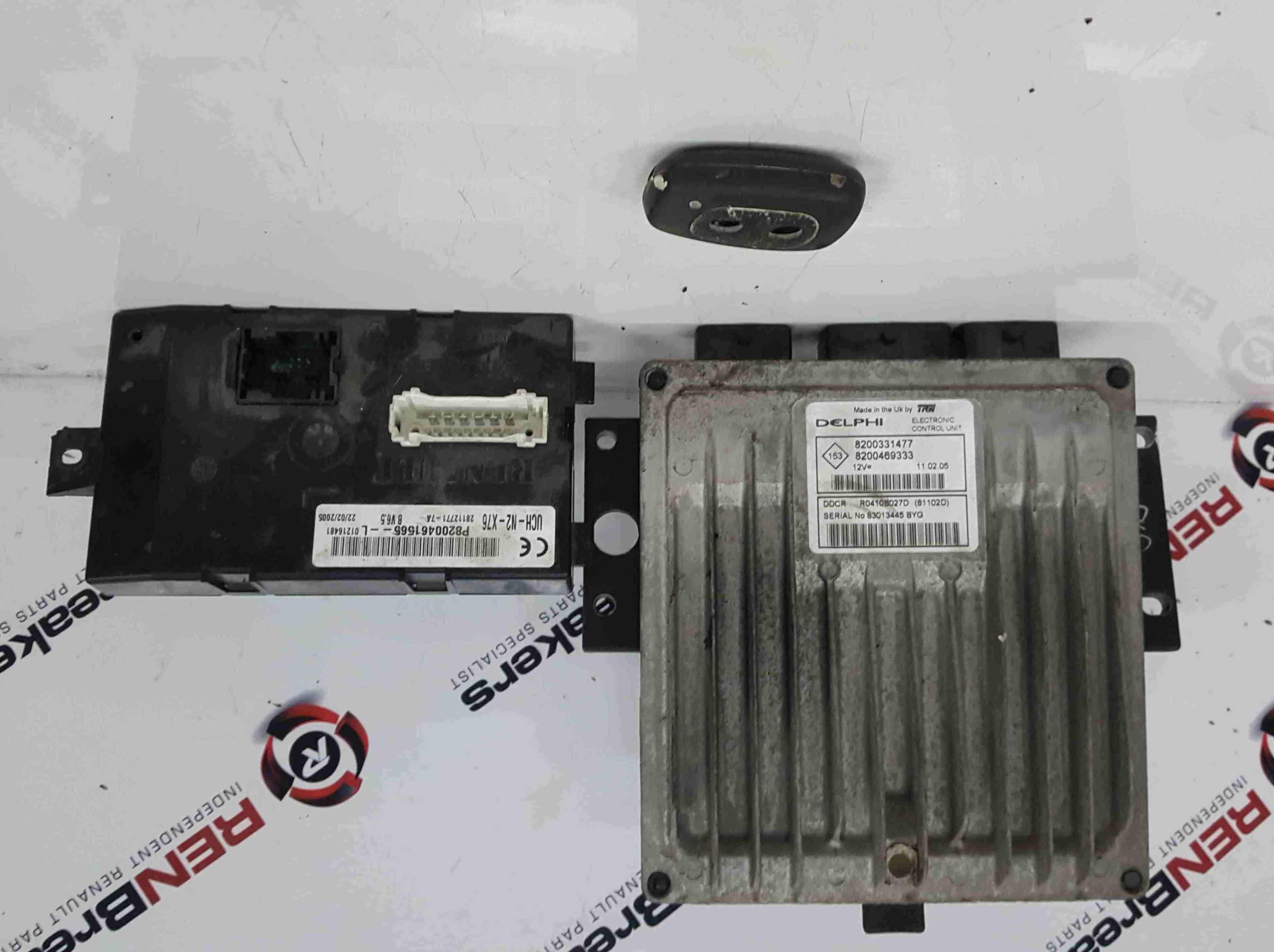 Renault Kangoo 2003-2007 1.5 DCi ECU SET BCM Immobiliser + Key Fob 8200331477