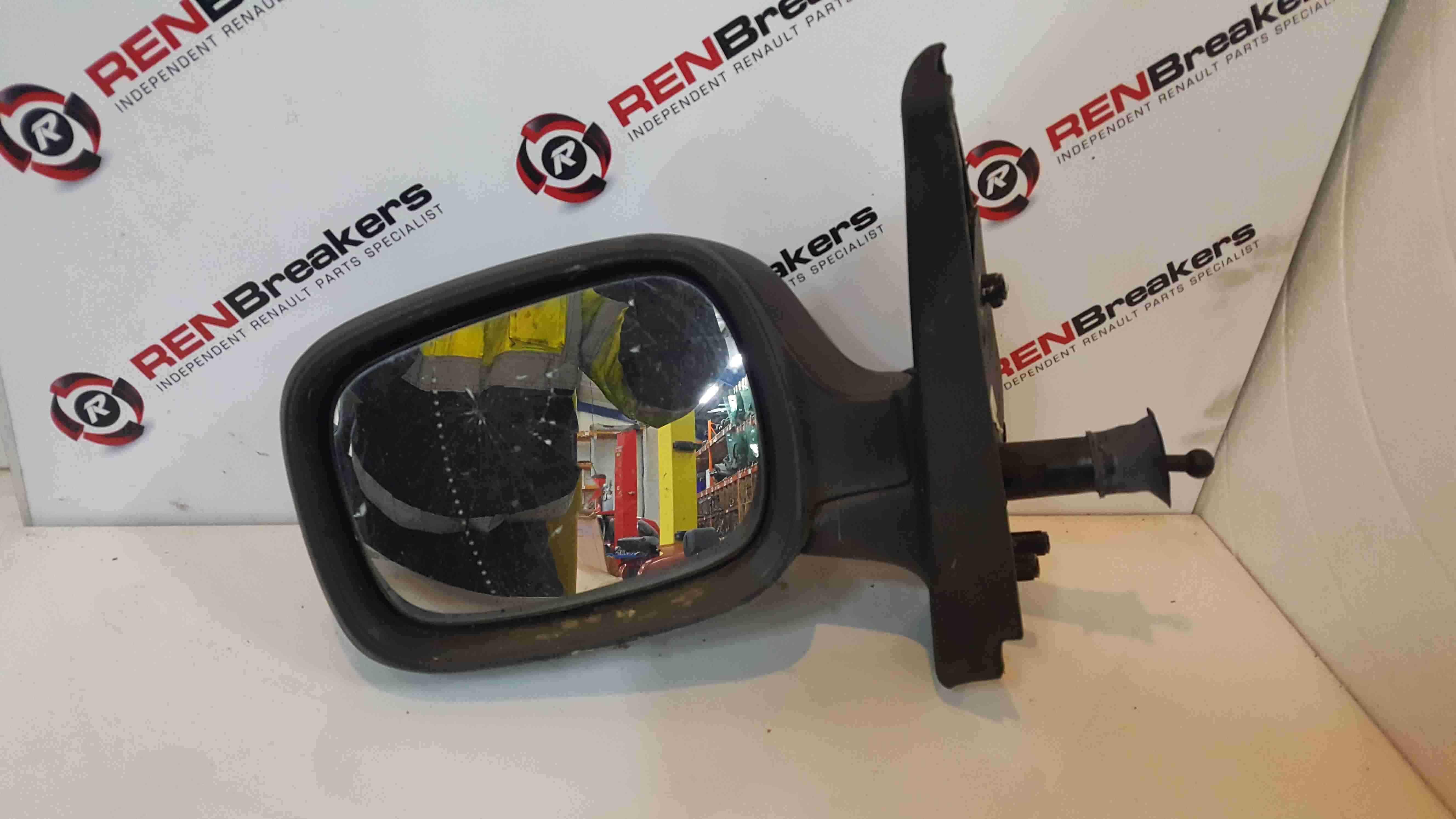 Renault Kangoo 2003-2007 Passenger NS Wing Mirror Plain Black Manual