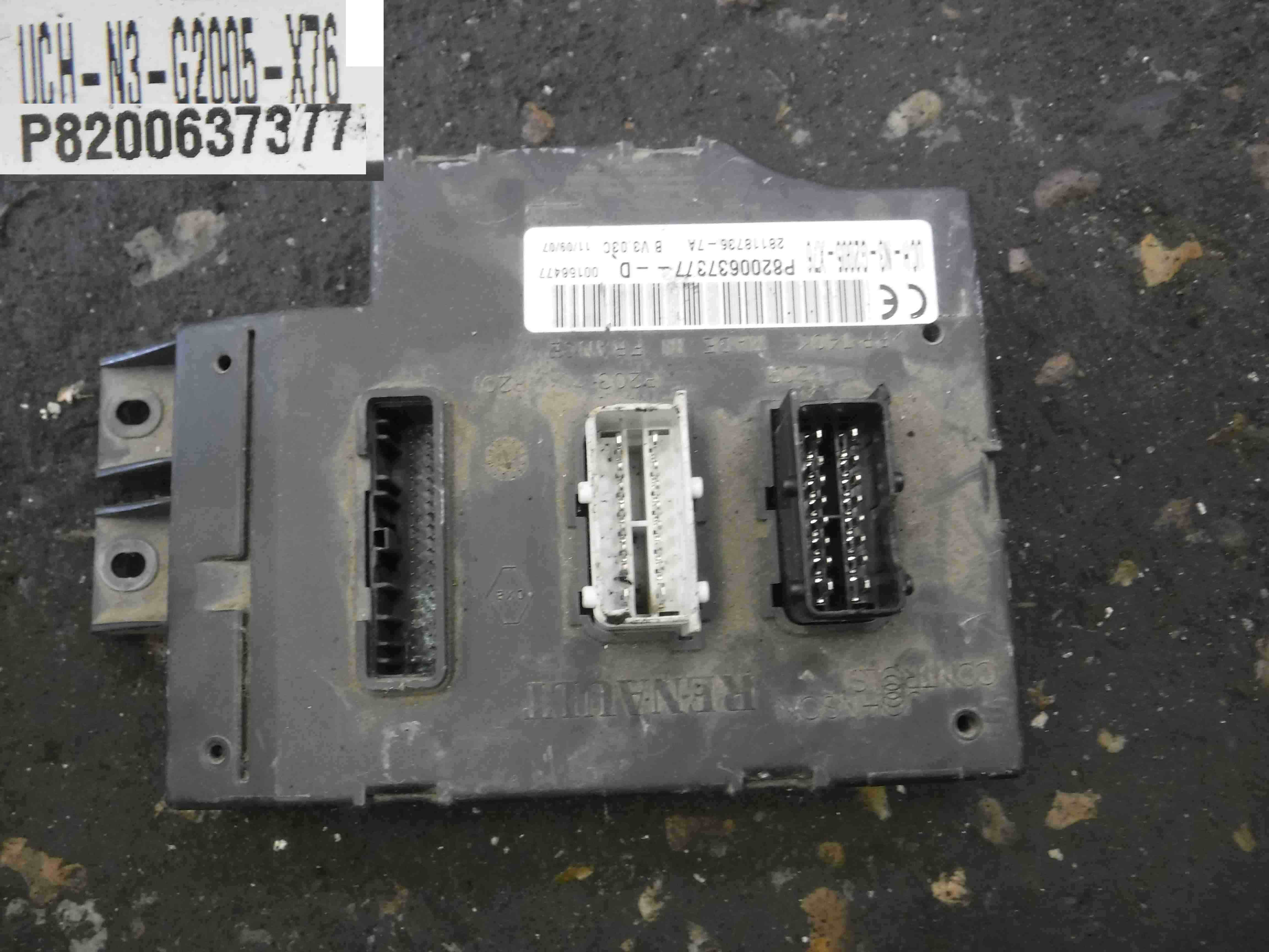 Sell Car For Parts >> Renault Kangoo 2003-2007 UCH BCM ECU Computer Control ...