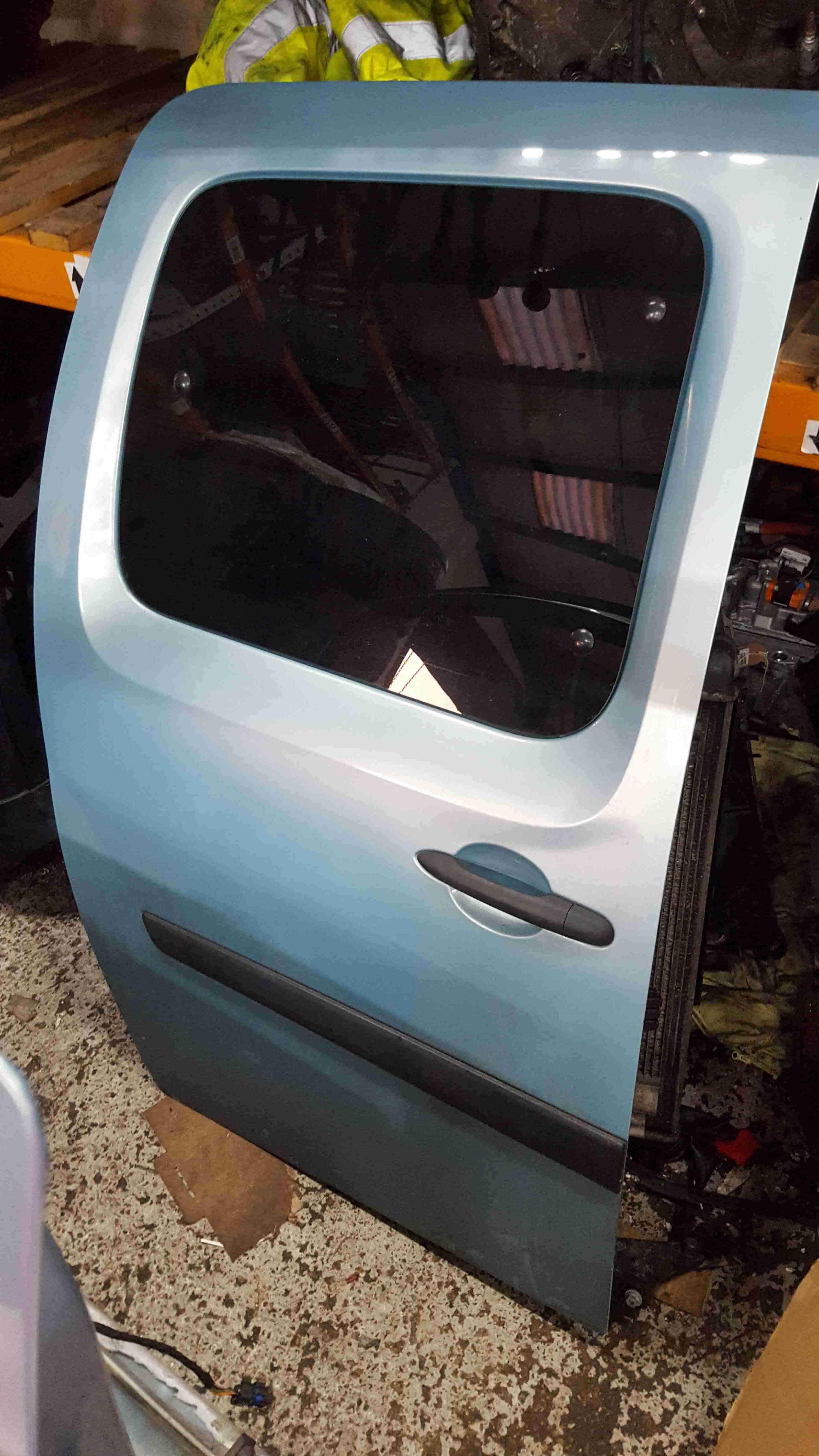 Renault Kangoo 2007-2013 Drivers OS Sliding Door Aqua Blue TERNP