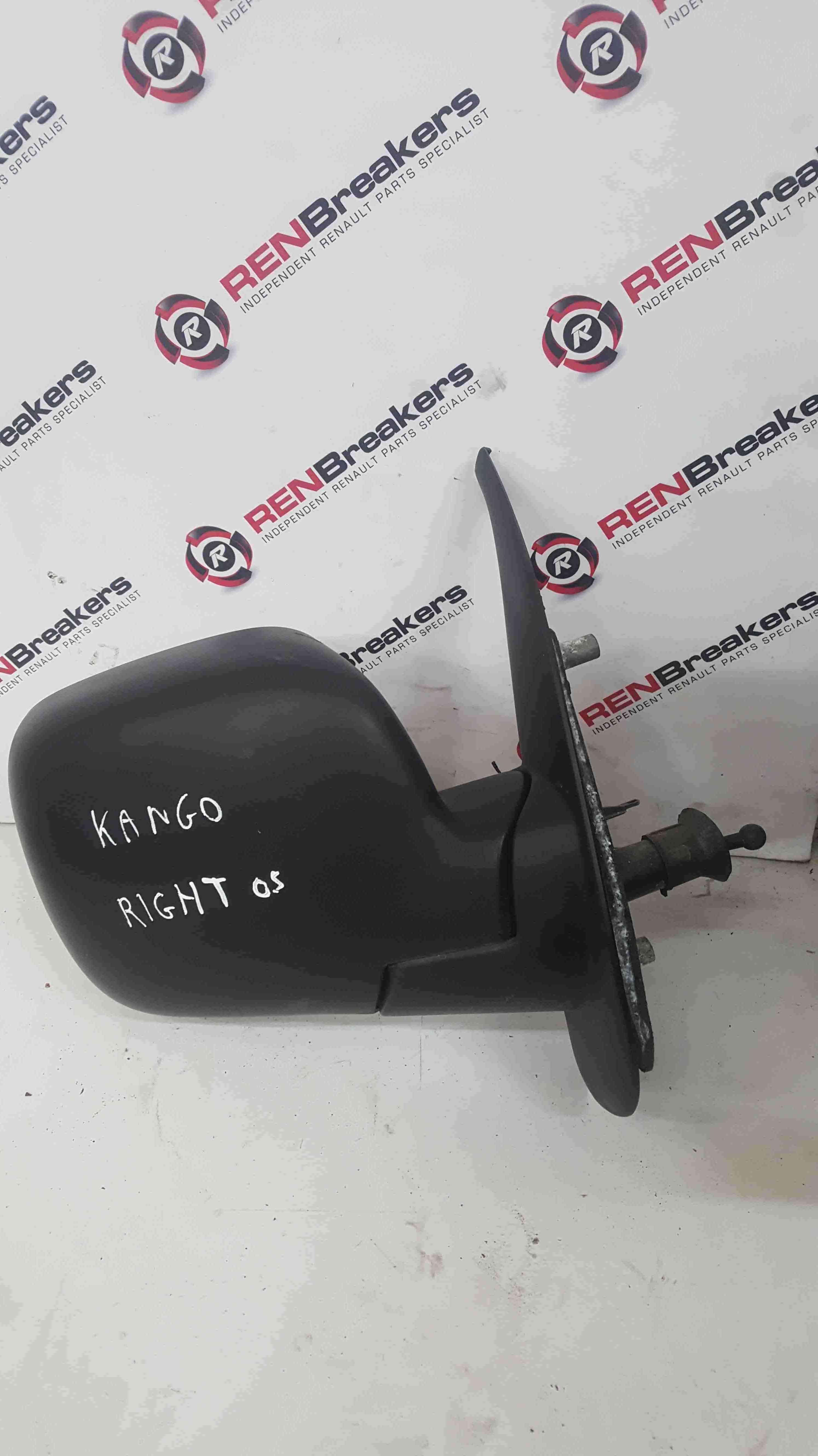 Renault Kangoo 2007-2013 Drivers OS Wing Mirror Plain Black Manual