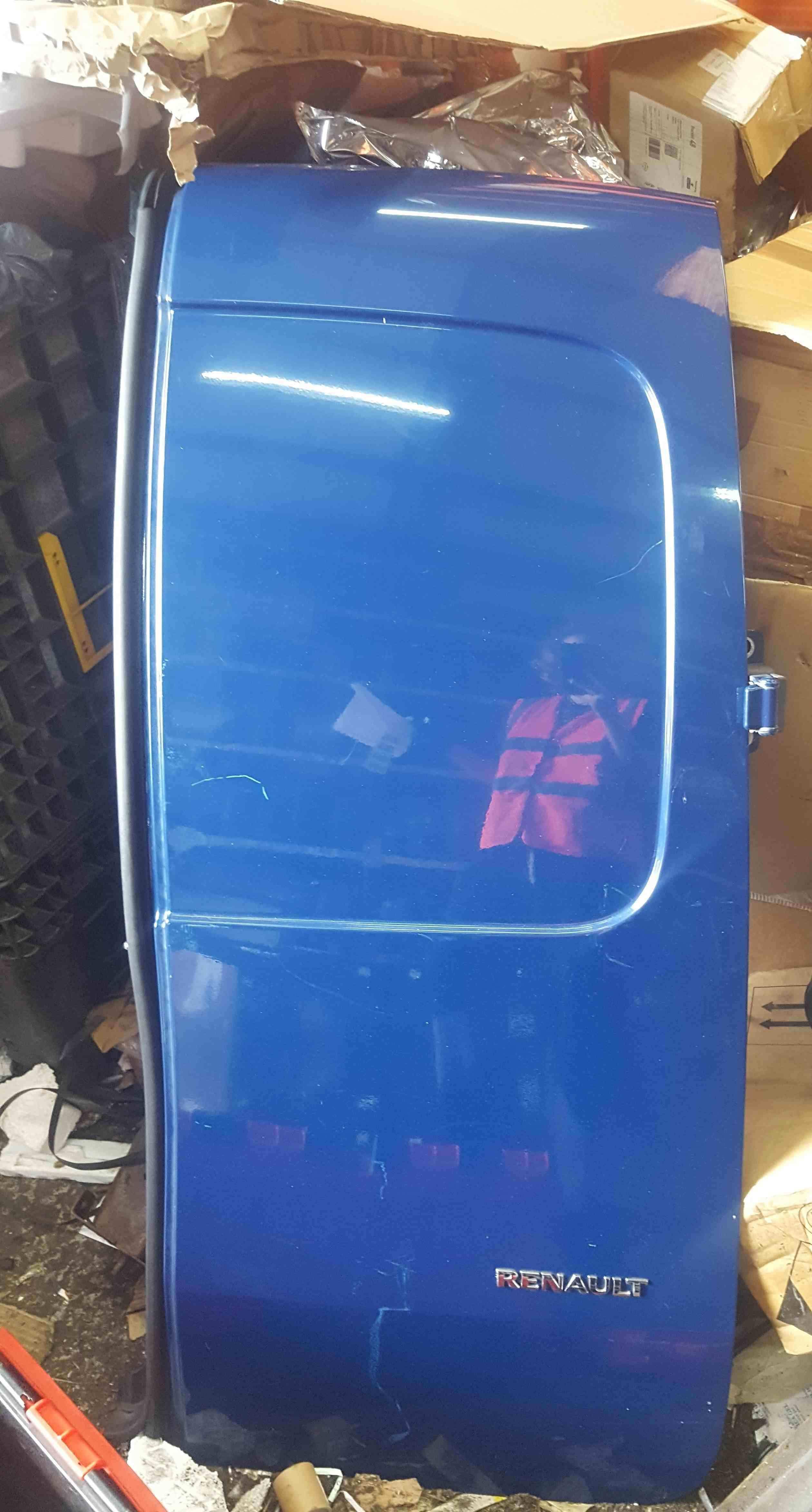Renault Kangoo 2007-2013 Drivers OSR Rear Barn Door Blue ORNQ