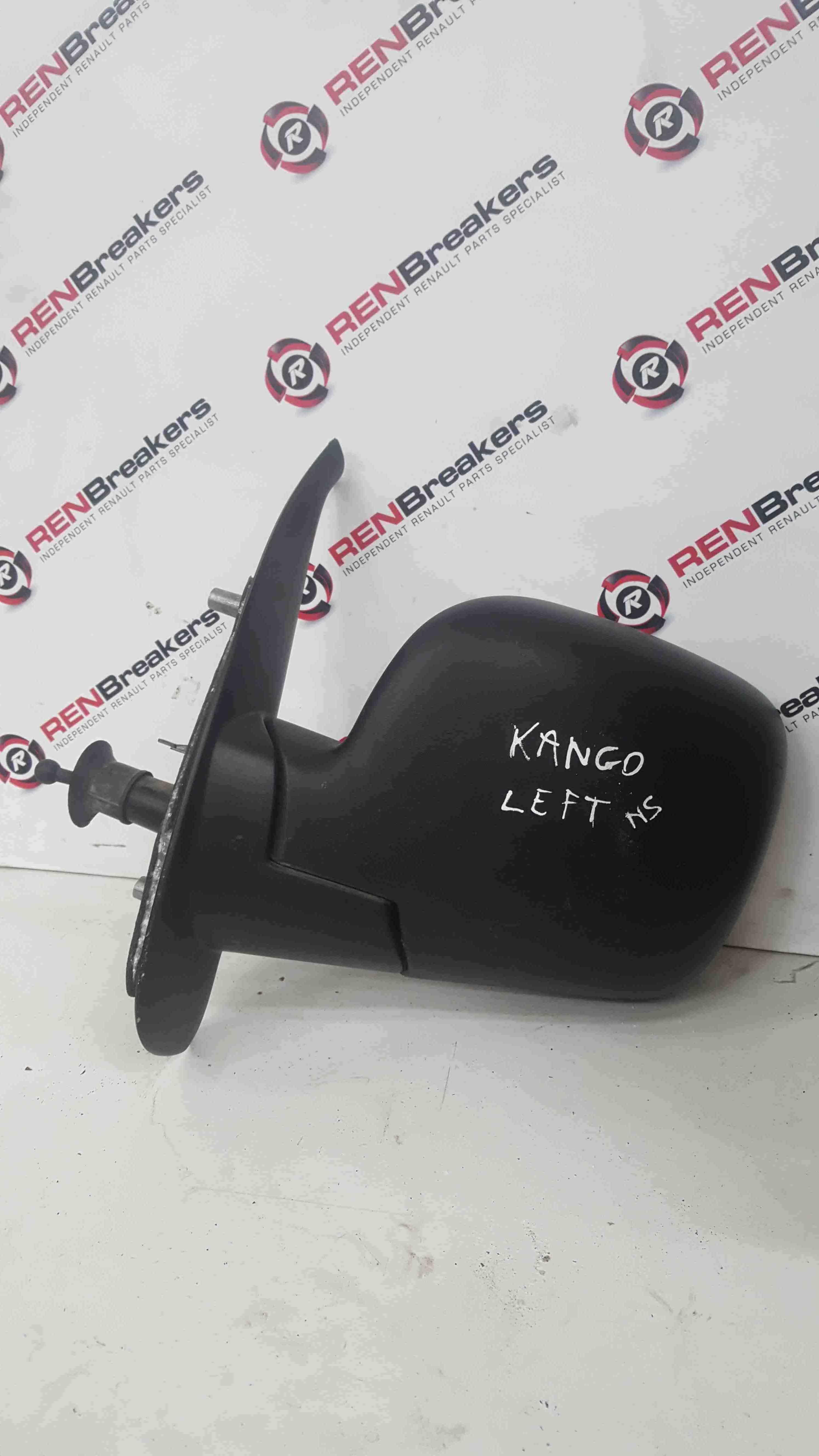 Renault Kangoo 2007-2013 Passenger NS Wing Mirror Plain Black Manual