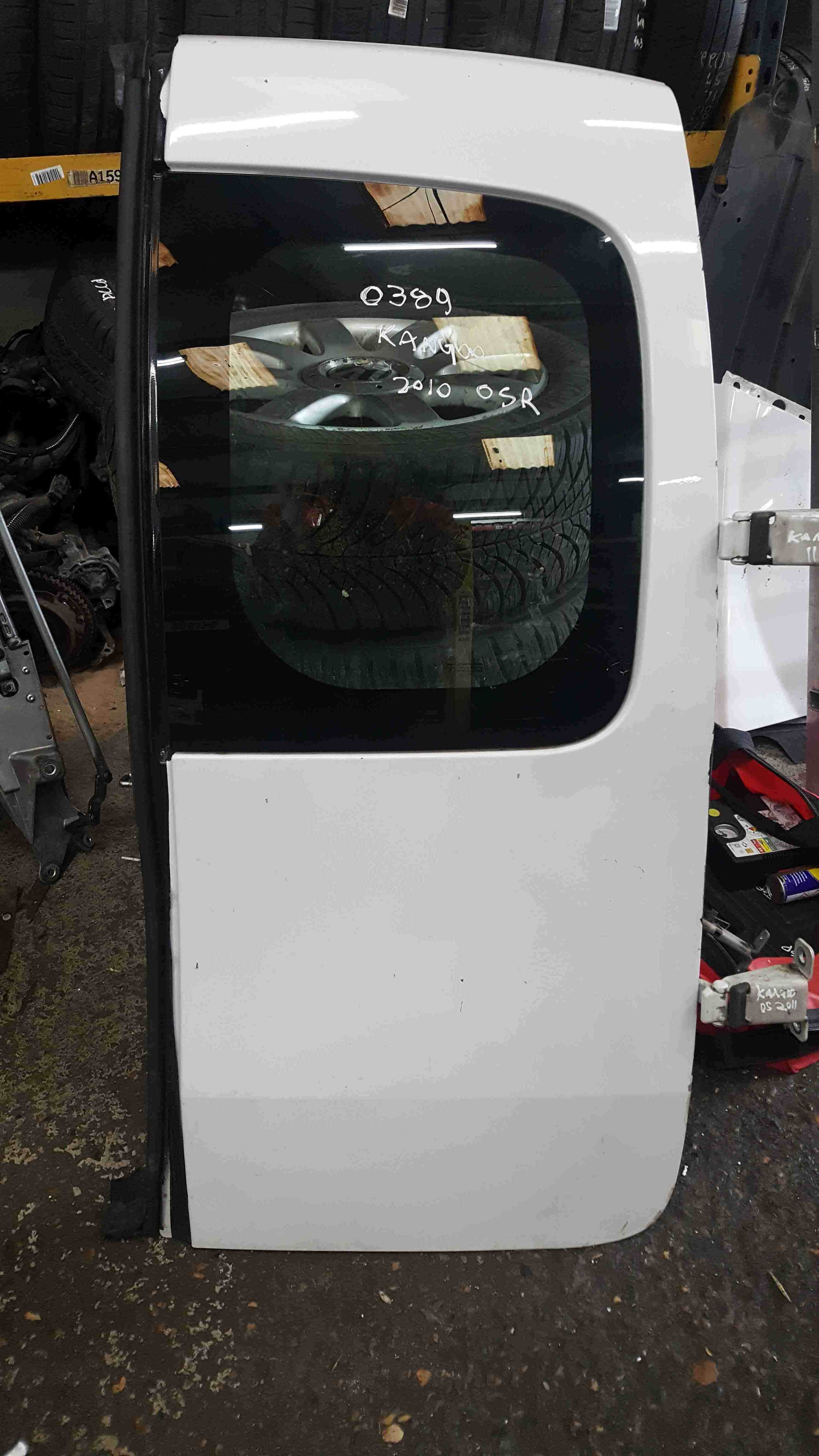 Renault Kangoo 2007-2017 Drivers OSR Rear Barn Door White O369