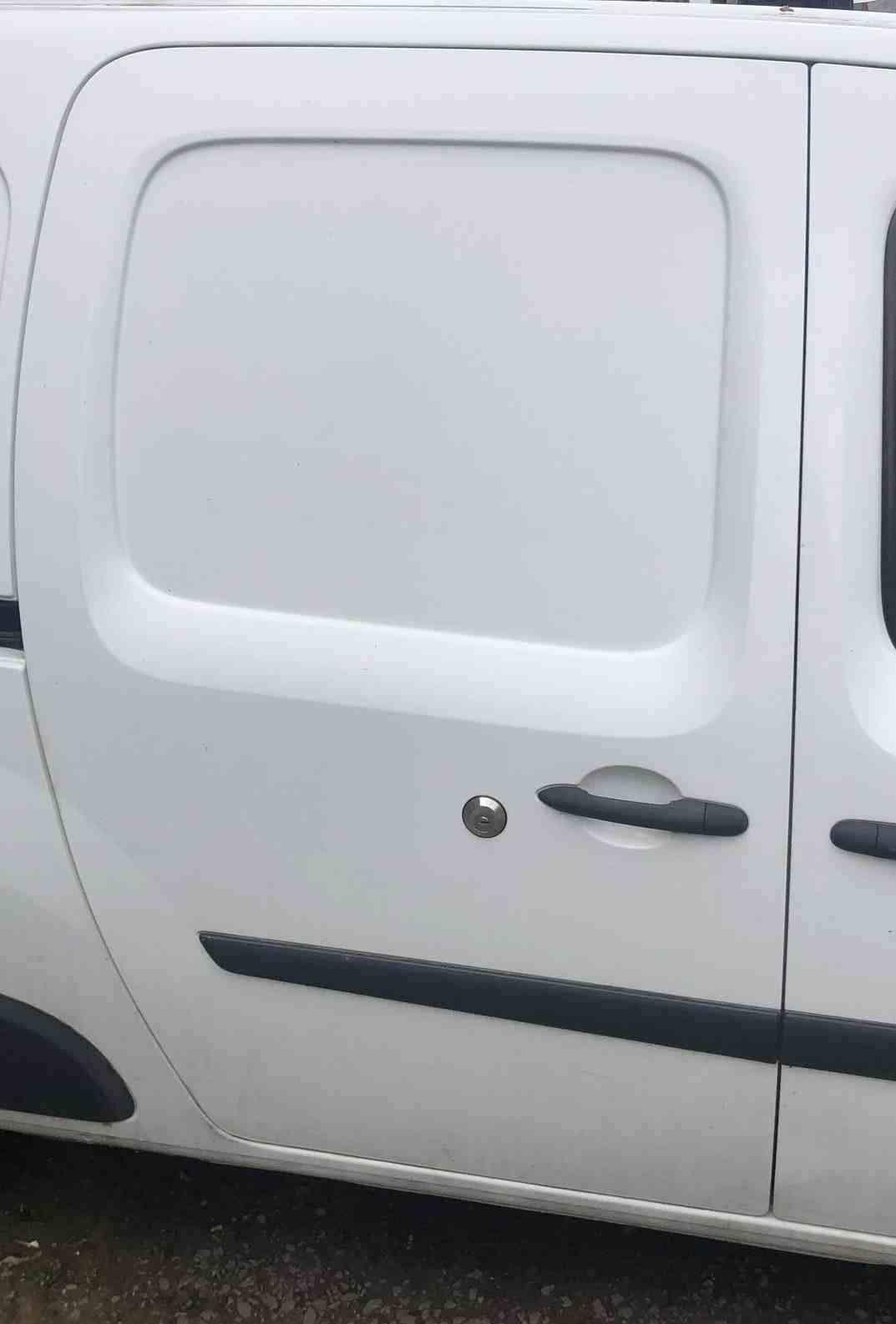 Renault Kangoo Maxi 2007-2017 Drivers OS Sliding Door White OV389