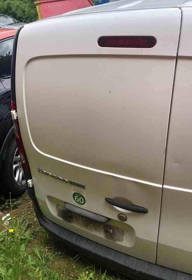 Renault Kangoo Maxi 2007-2017 Passenger NSR Rear Barn Door White OV389