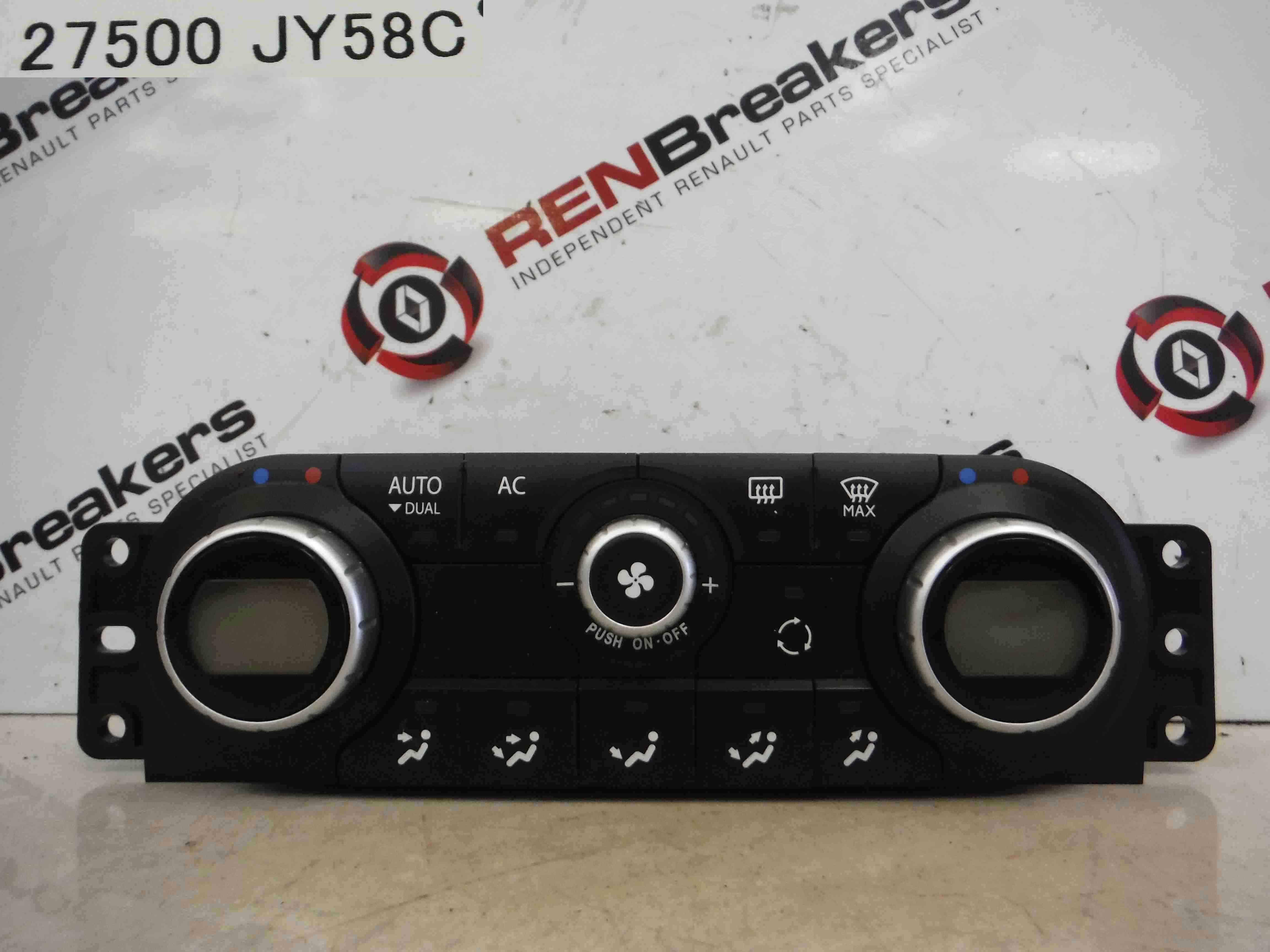 Renault Koleos 2008-2010 Heater Controls Dials Digital