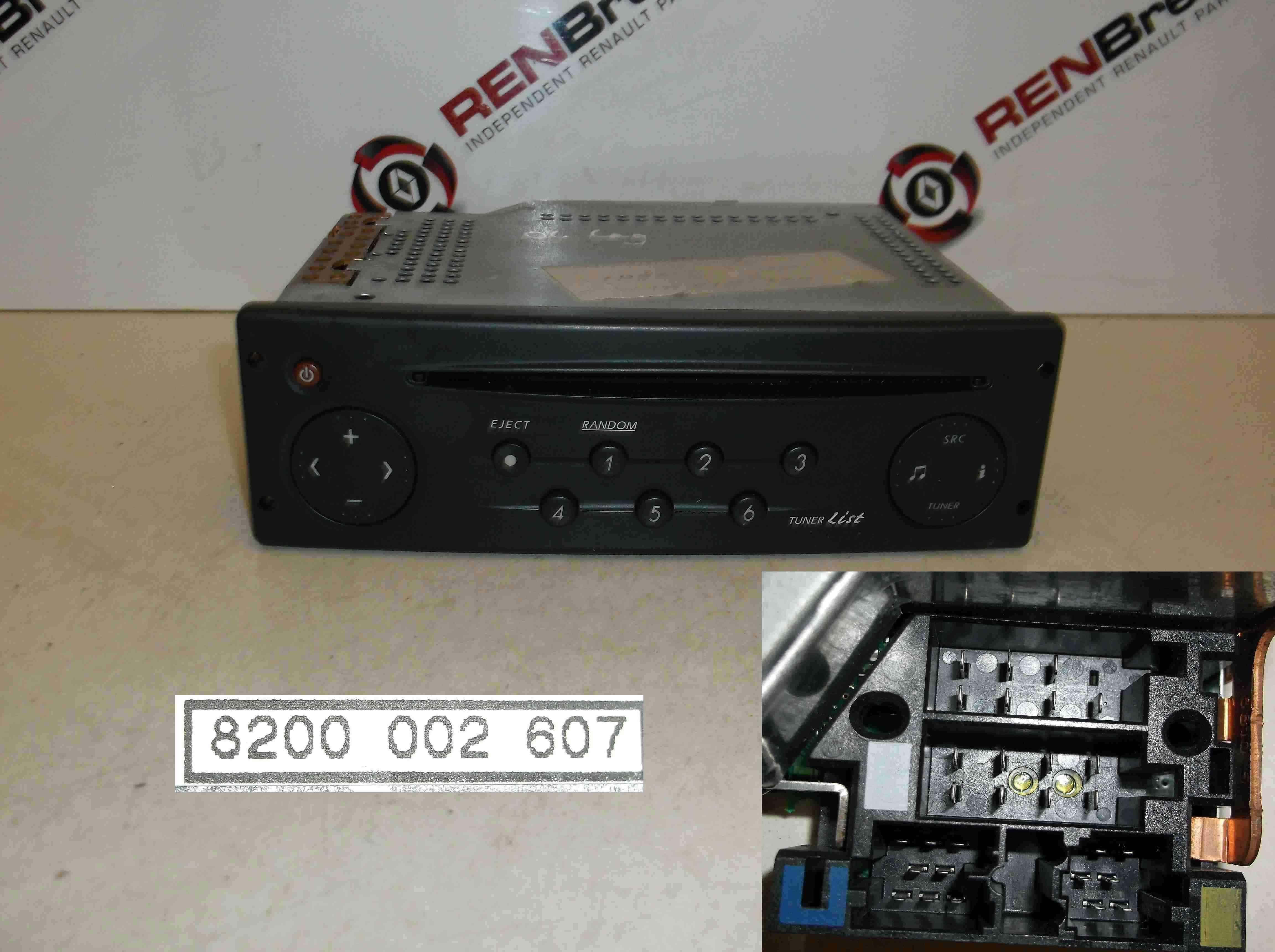 renault laguna 2001 2005 cd player radio tuner list with code 8200002607 ebay. Black Bedroom Furniture Sets. Home Design Ideas