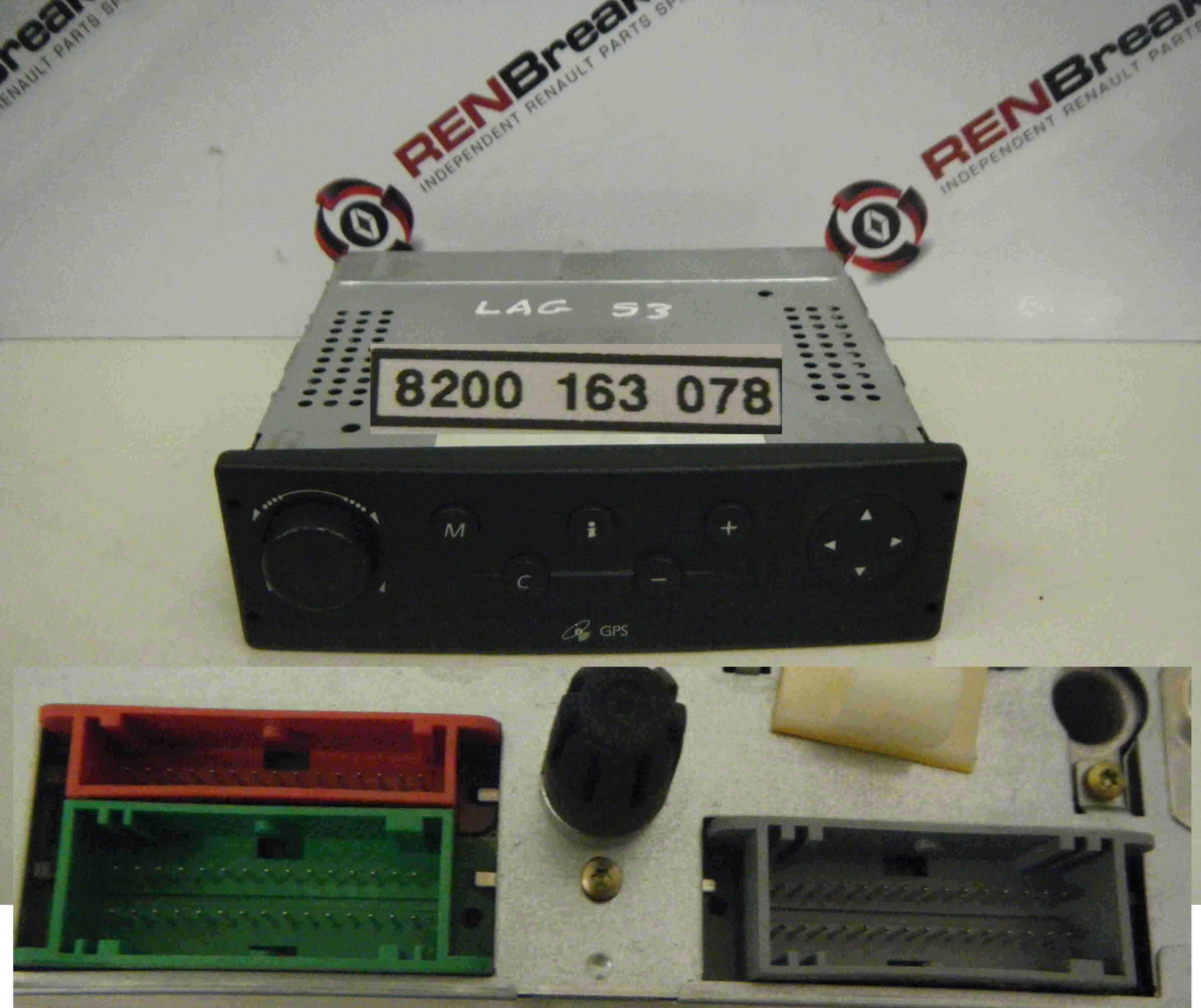 Renault Laguna 2001-2005 GPS Sat Nav Unit 8200163078