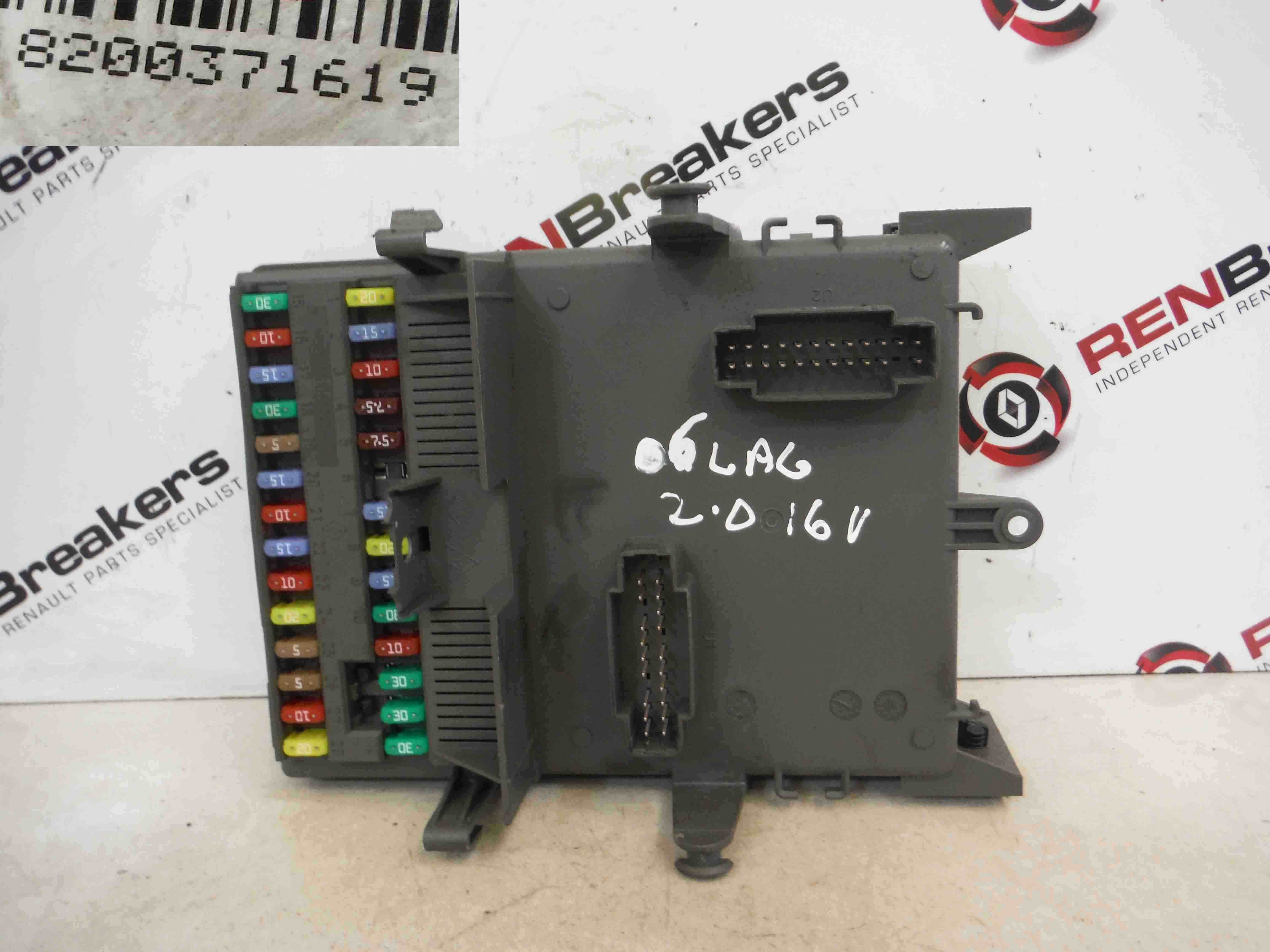 Renault Laguna 1 Fuse Box Wiring Library Clio Authentique 2001 2007 Dashboard Relay Computer 8200371619