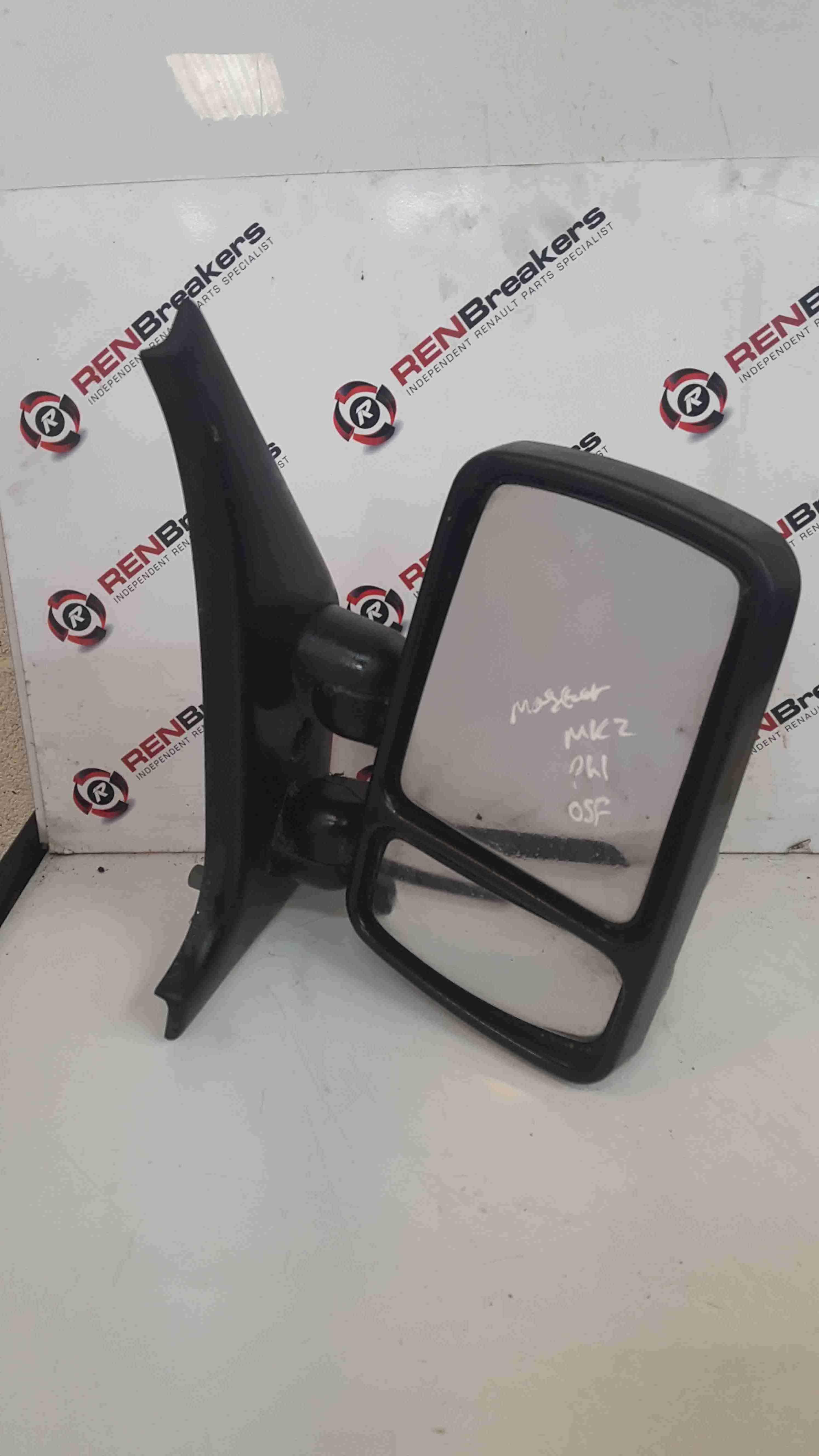 Renault Master 1997-2003 Drivers OS Wing Mirror Plain Black