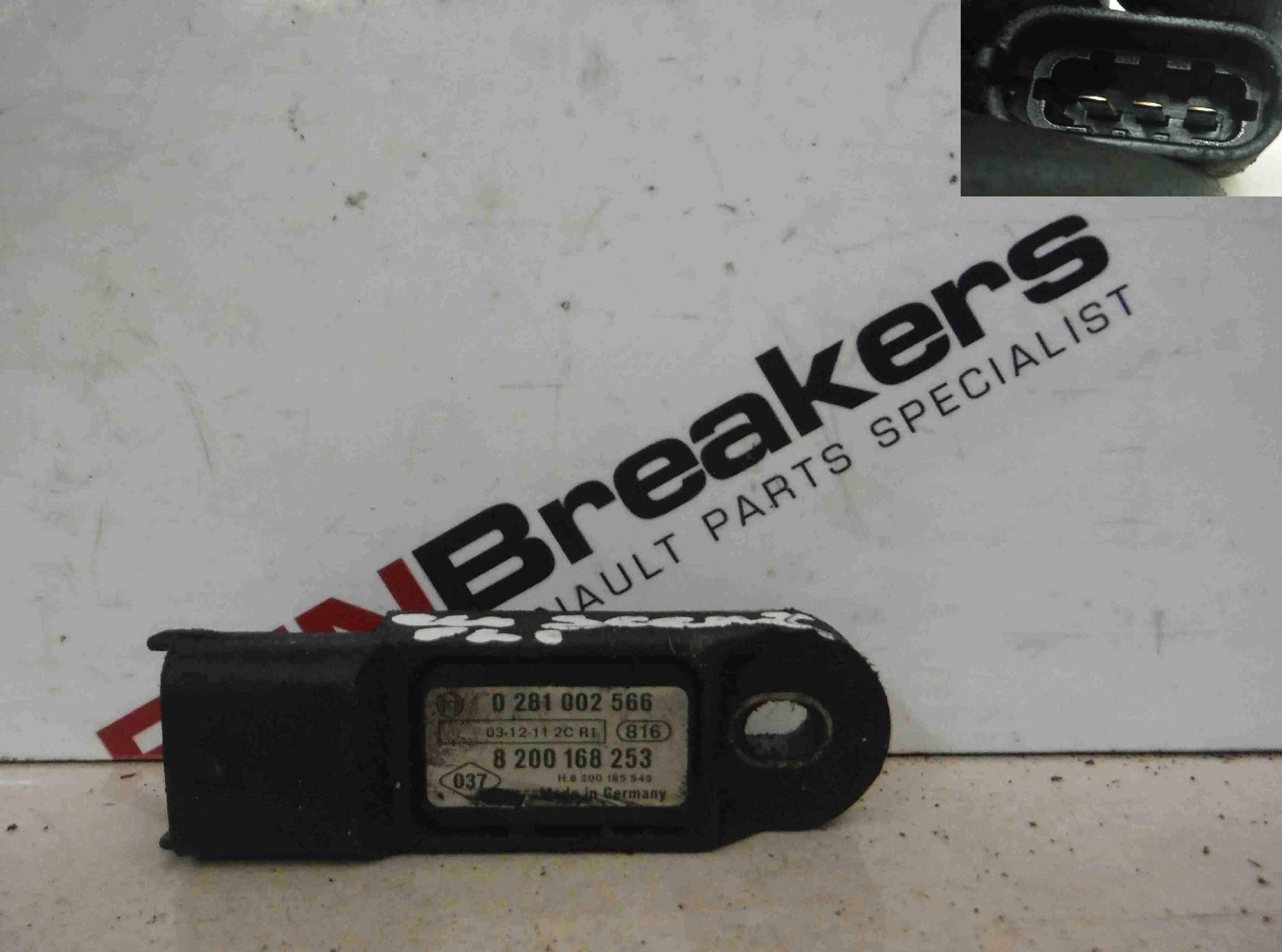 Renault Megane + Scenic 2001-2009 Inlet Manifold Map Sensor 8200168253