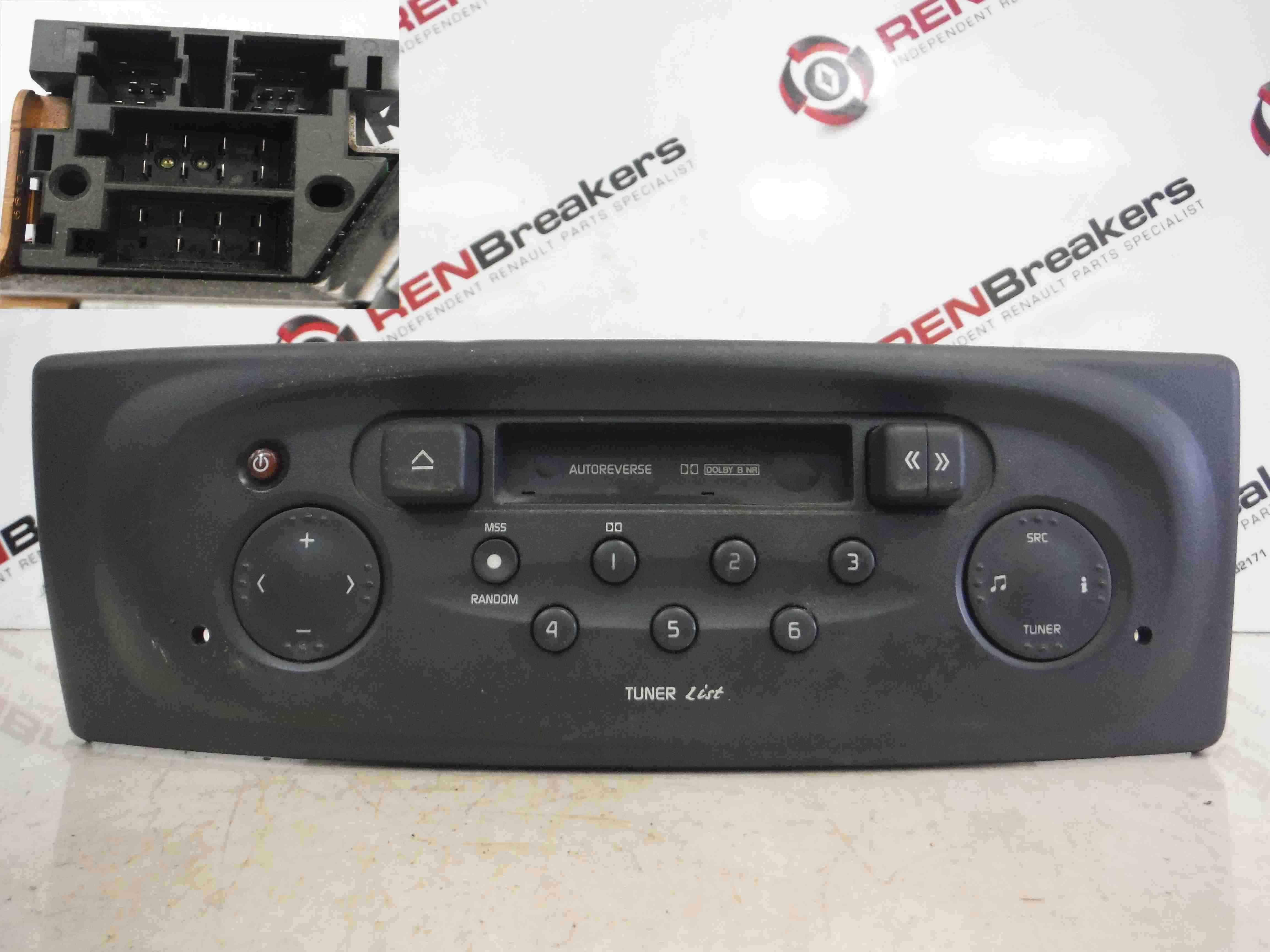 renault megane 1999 2002 radio cassette player tuner list code ebay. Black Bedroom Furniture Sets. Home Design Ideas