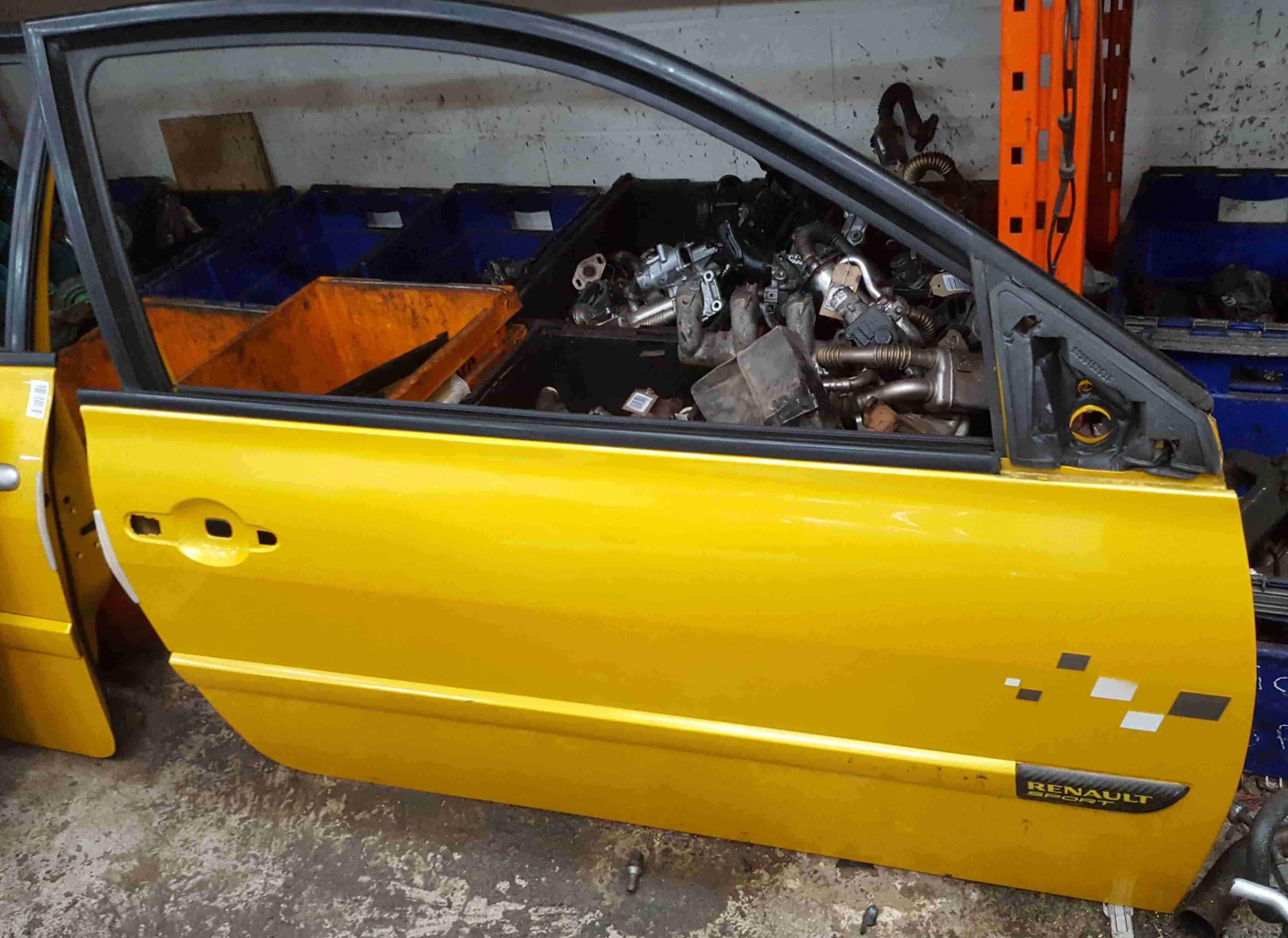 Renault Megane 2002-2008 230 225 Drivers OSF Front Door Liquid Yellow TEJ37 3dr